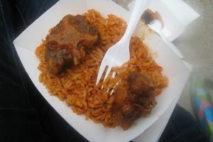 Lunch at the Taste of Chicago: Jollaf Rice with Oxtail (Bolat African Cuisine).