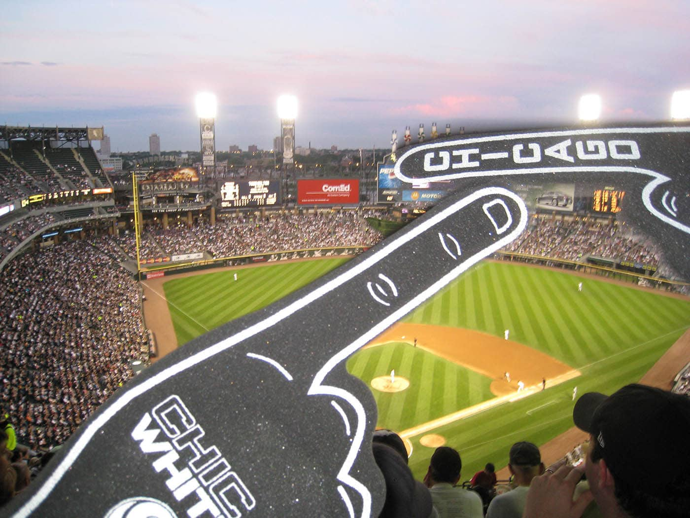 Foam finger at the White Sox Game.