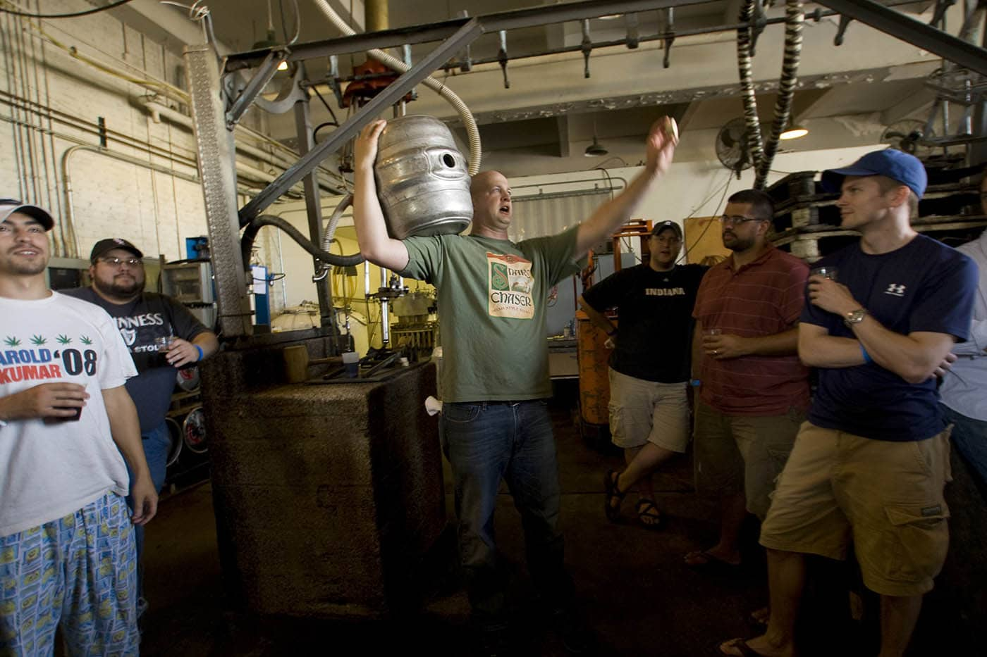 Lakefront Brewery tour in Milwaukee, Wisconsin.