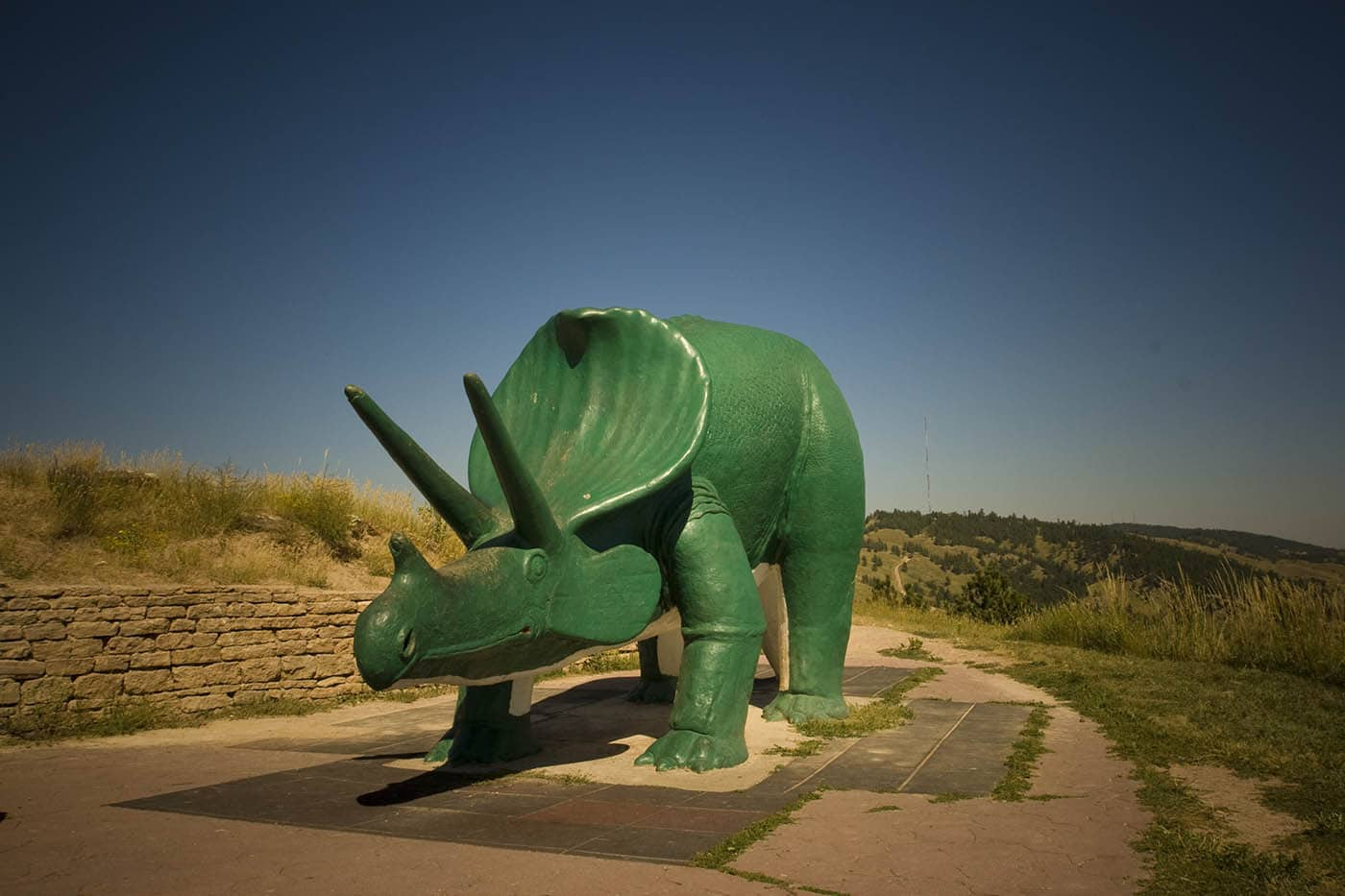 Dinosaur Park in Rapid City, South Dakota. Labor Day Chicago to Mount Rushmore Road Trip.