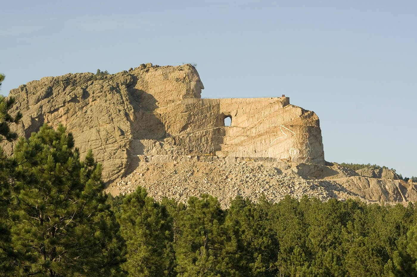 Chief Crazy Horse Memorial in Crazy Horse, South Dakota. Labor Day Chicago to Mount Rushmore Road Trip.