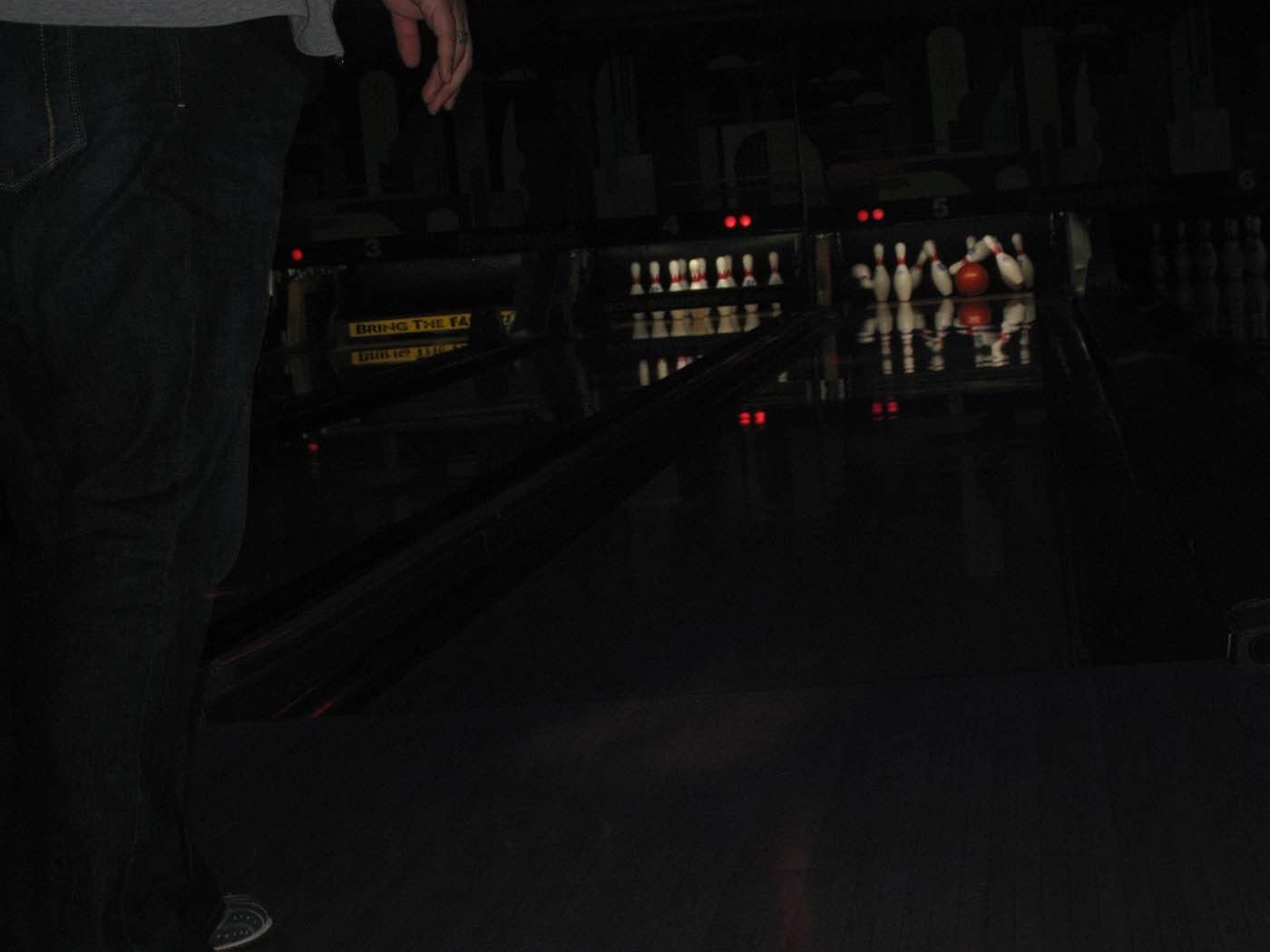 Birthday cosmic bowling party.