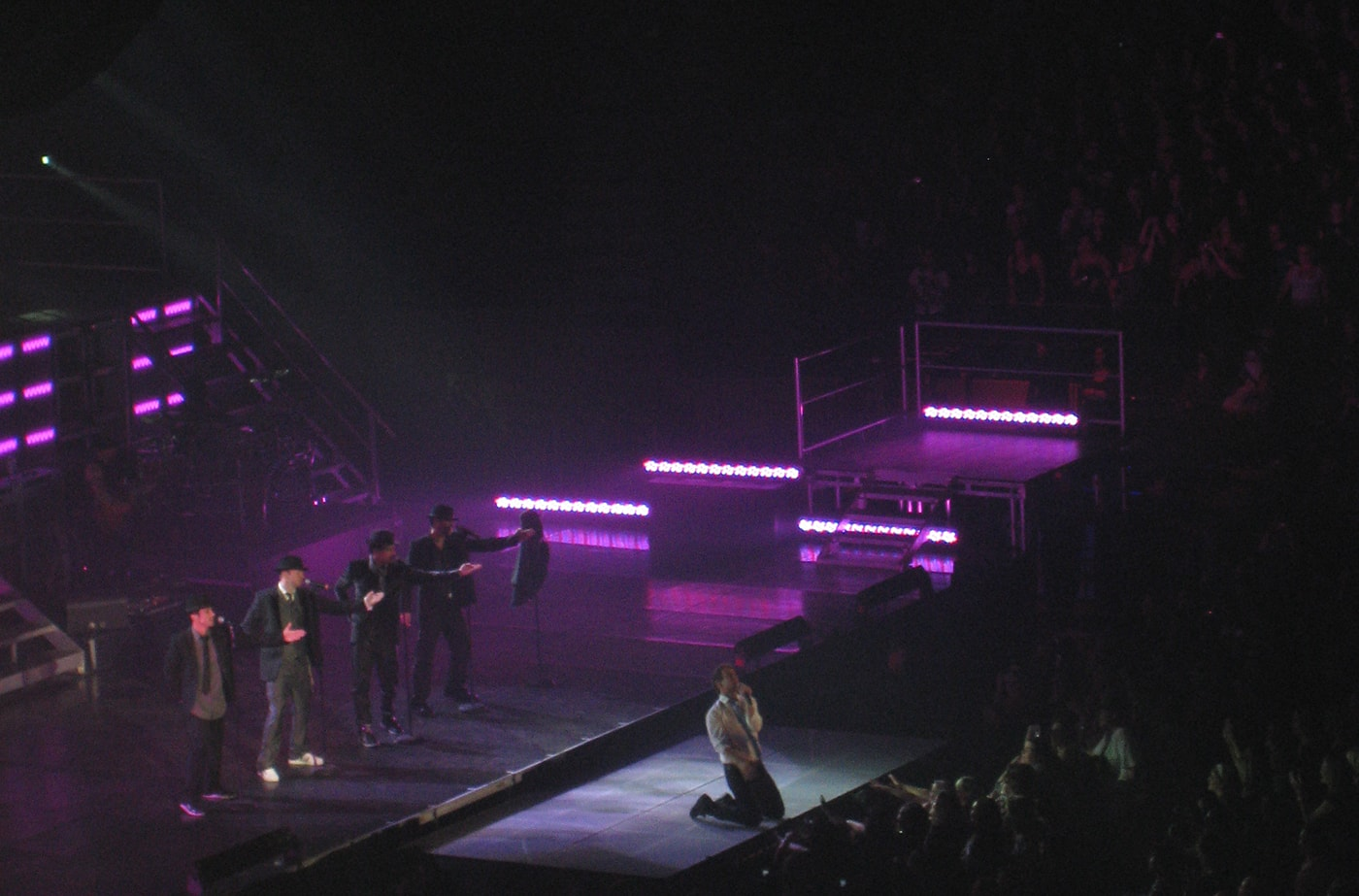 Joey McIntyre sings Please Don't Go Girl at the New Kids on the Block reunion tour concert.