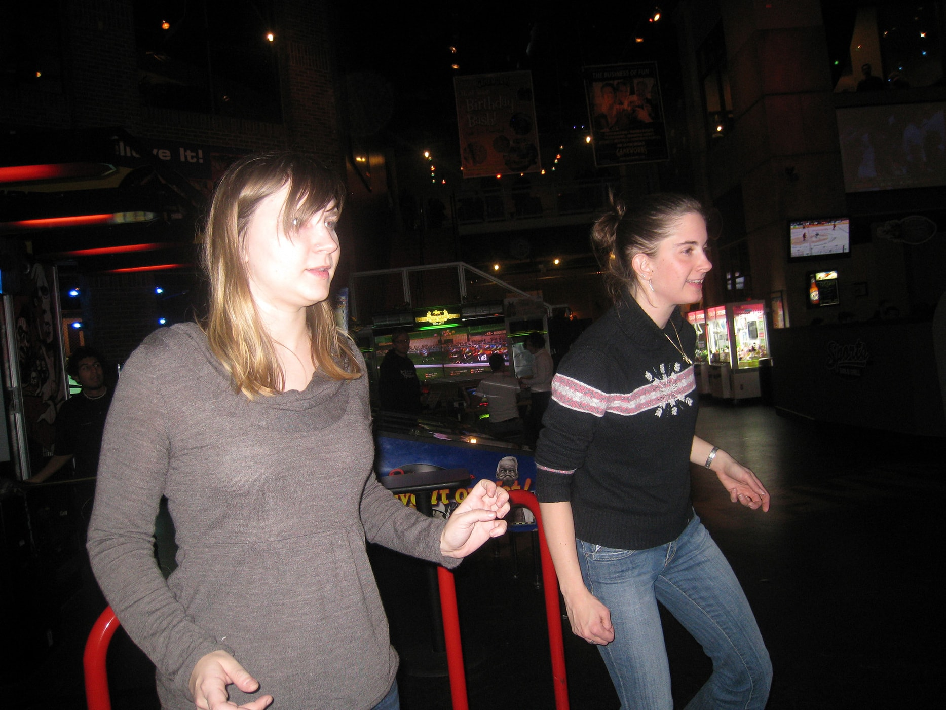 Playing games at Gameworks