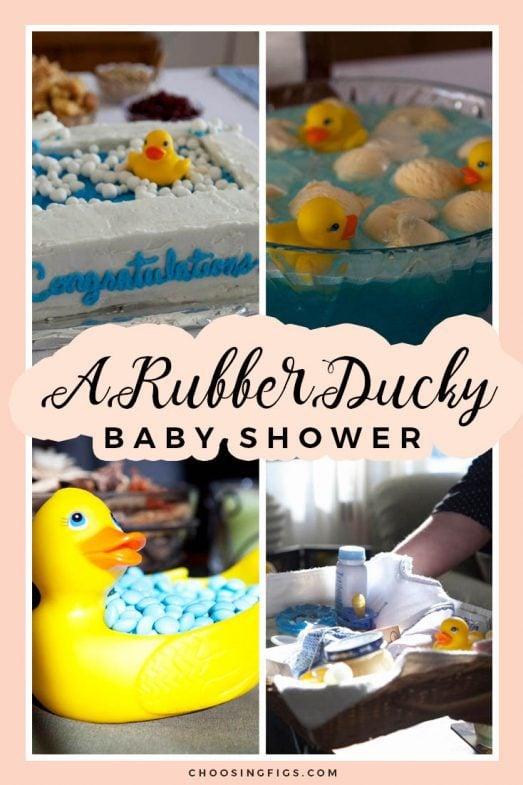 A Rubber Ducky Baby Shower Choosing Figs