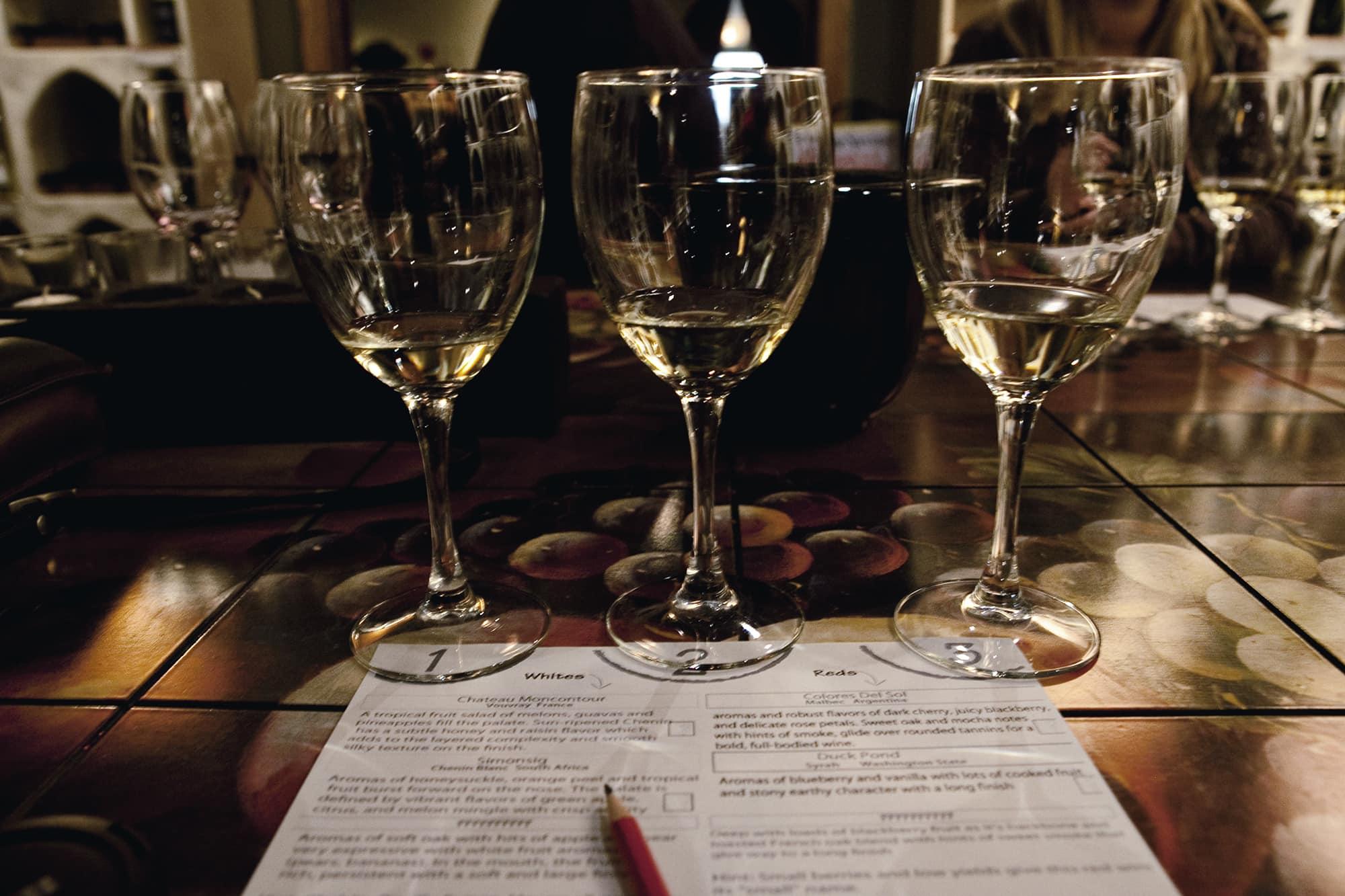 Winestyles blind wine tasting