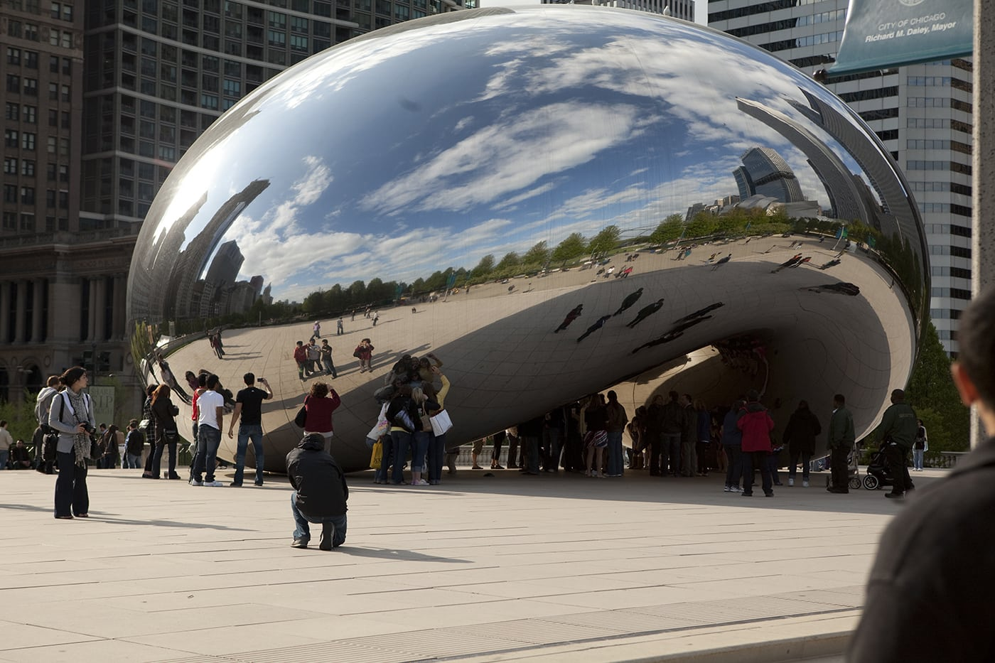 Cloud Gate - the Bean at Millennium Park.