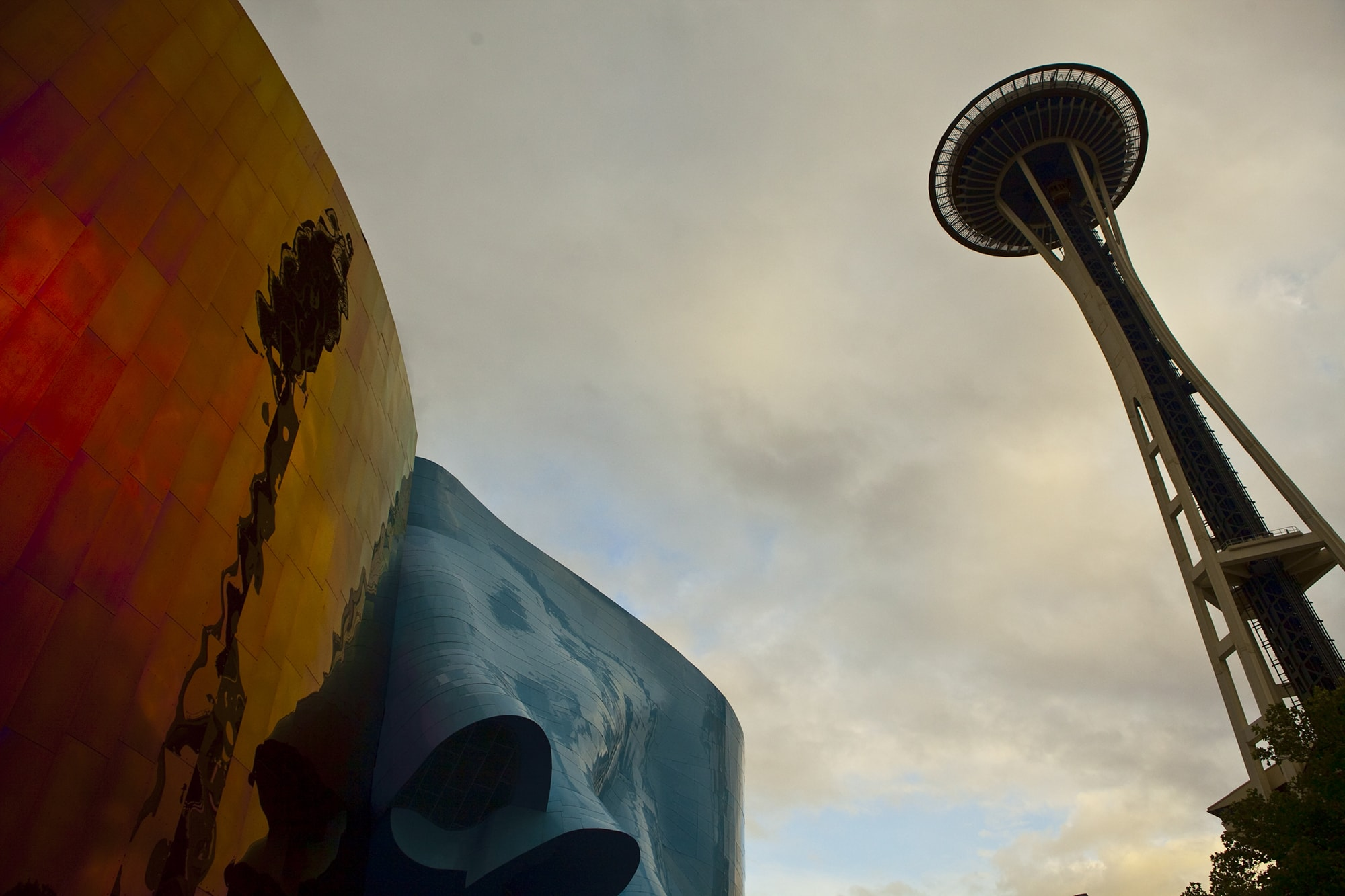 Space Needle Reflected