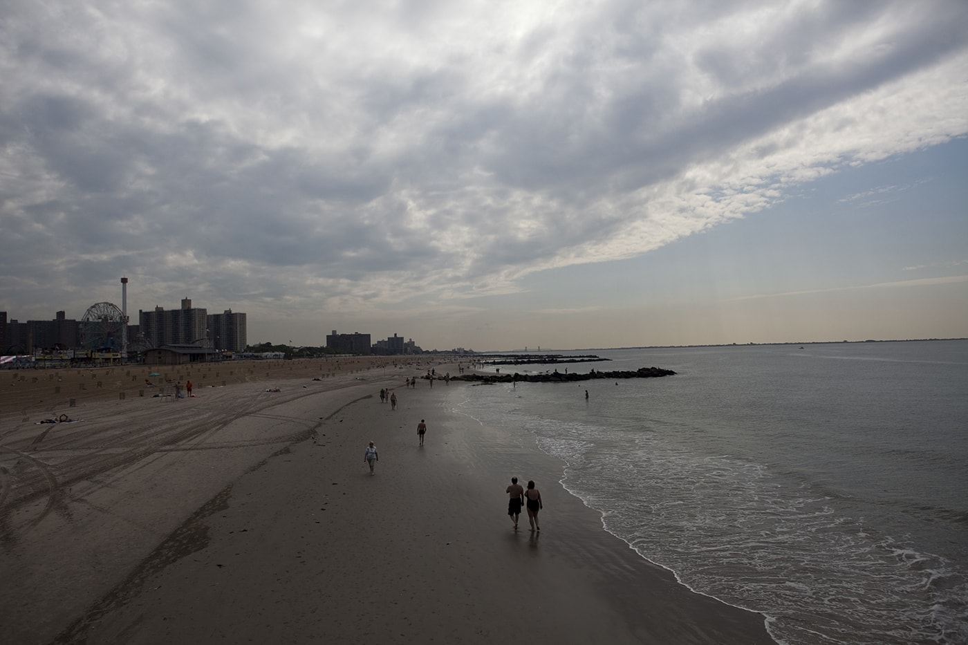 The beach at Coney Island in New York.