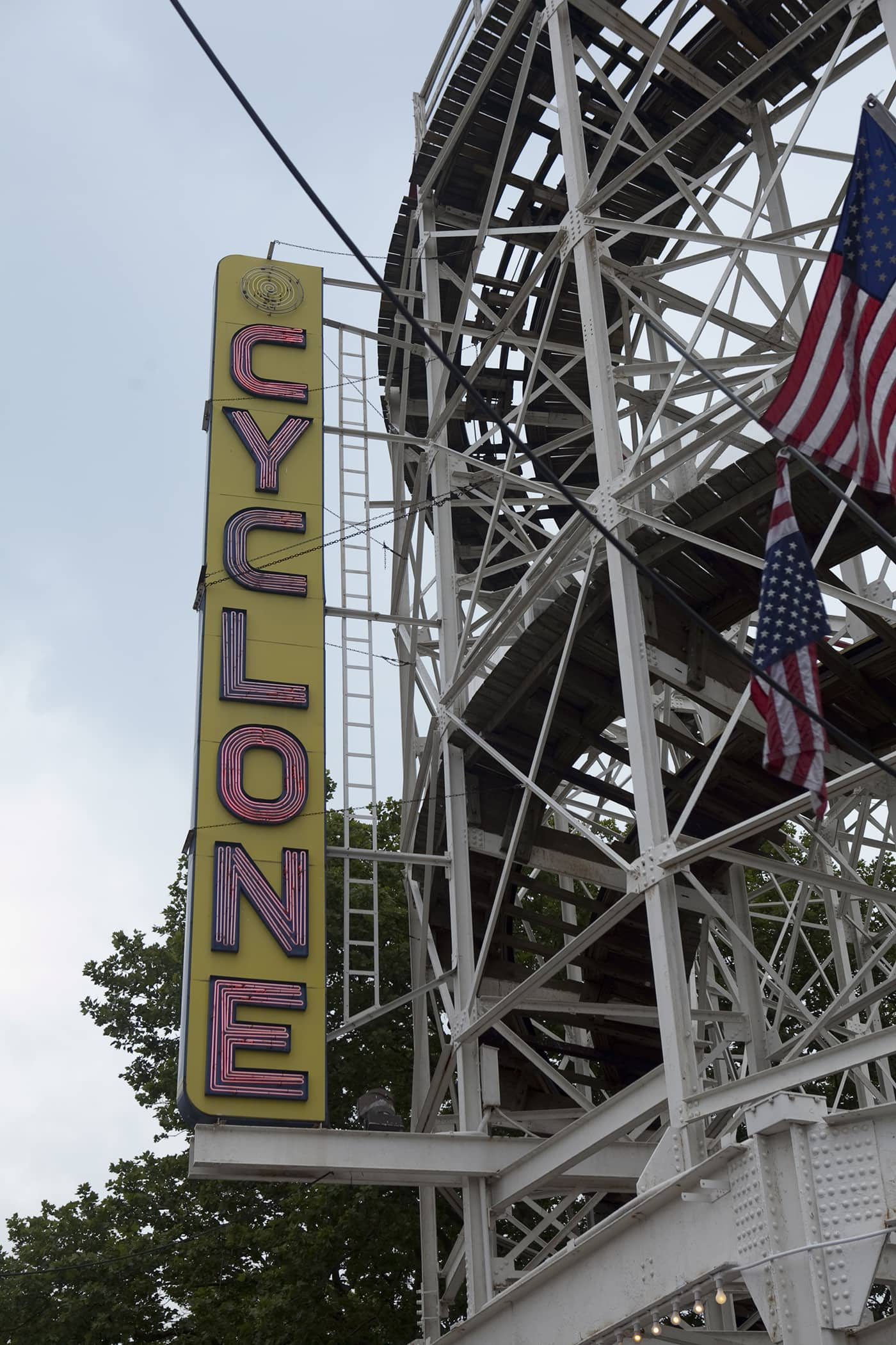 The Cyclone on Coney Island.