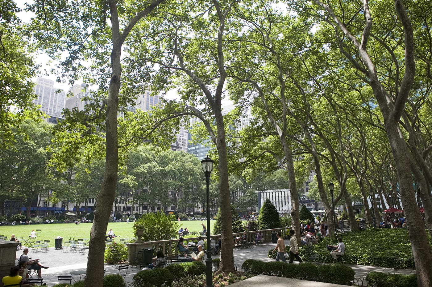 Bryant Park in New York City.