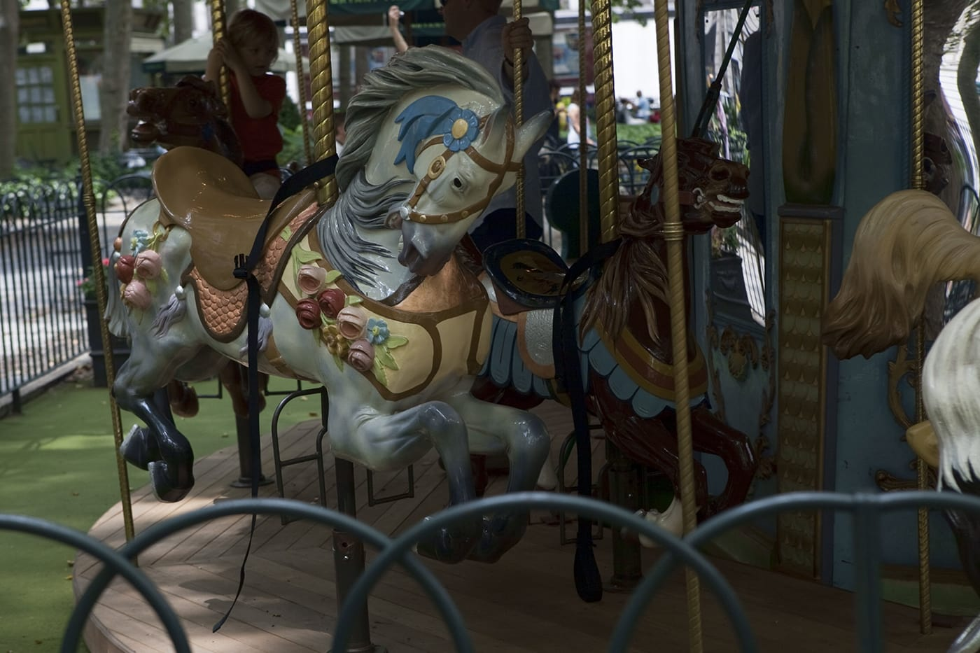 Carousel at Bryant Park in New York City.