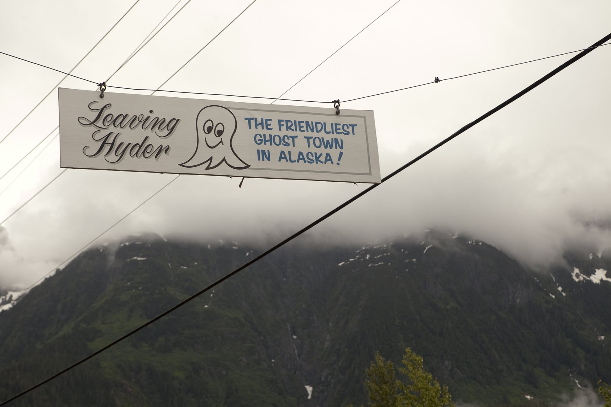 Leaving Hyder - The Friendliest Ghost Town in Alaska.