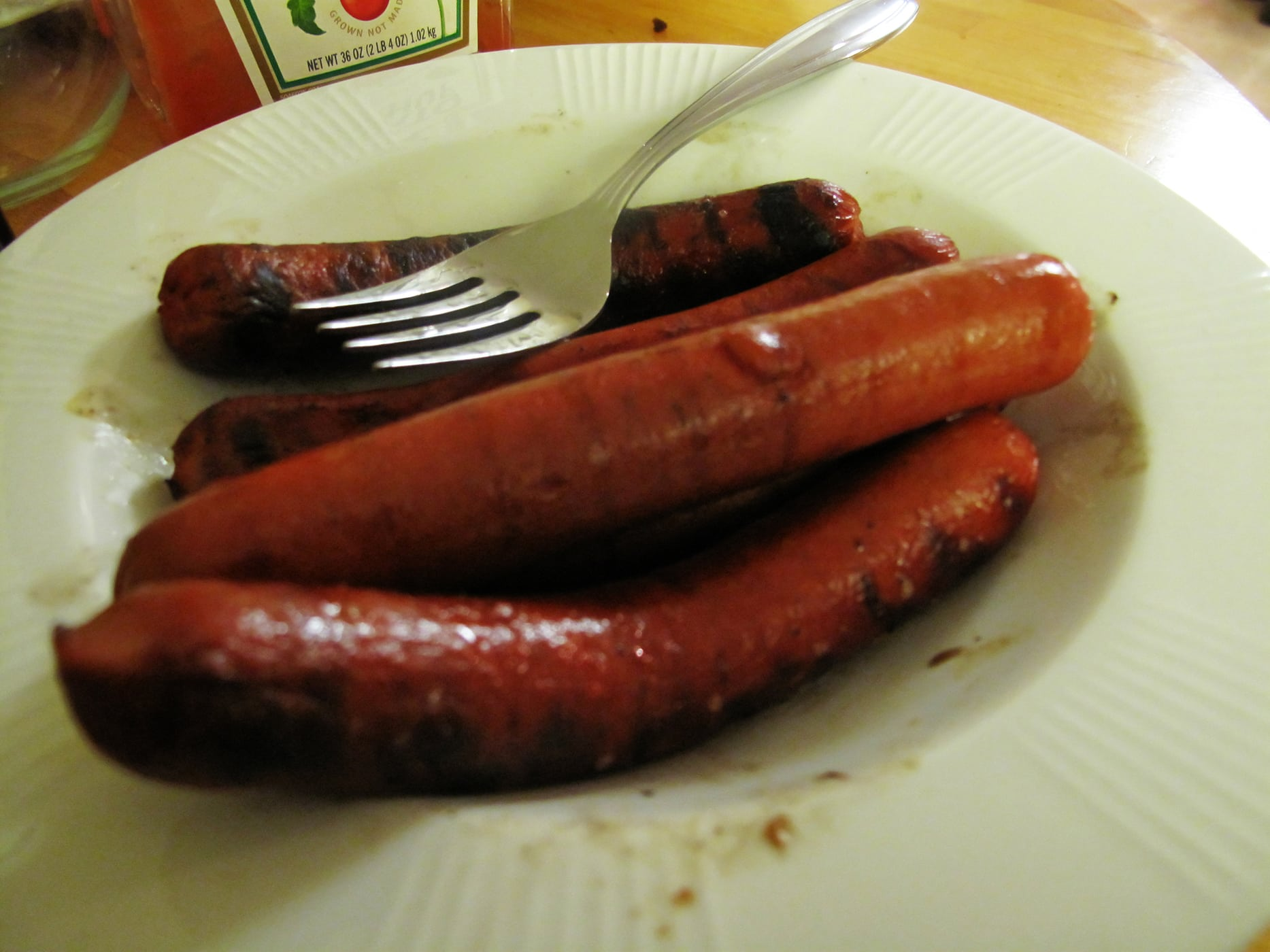 Hot dogs at a BBQ