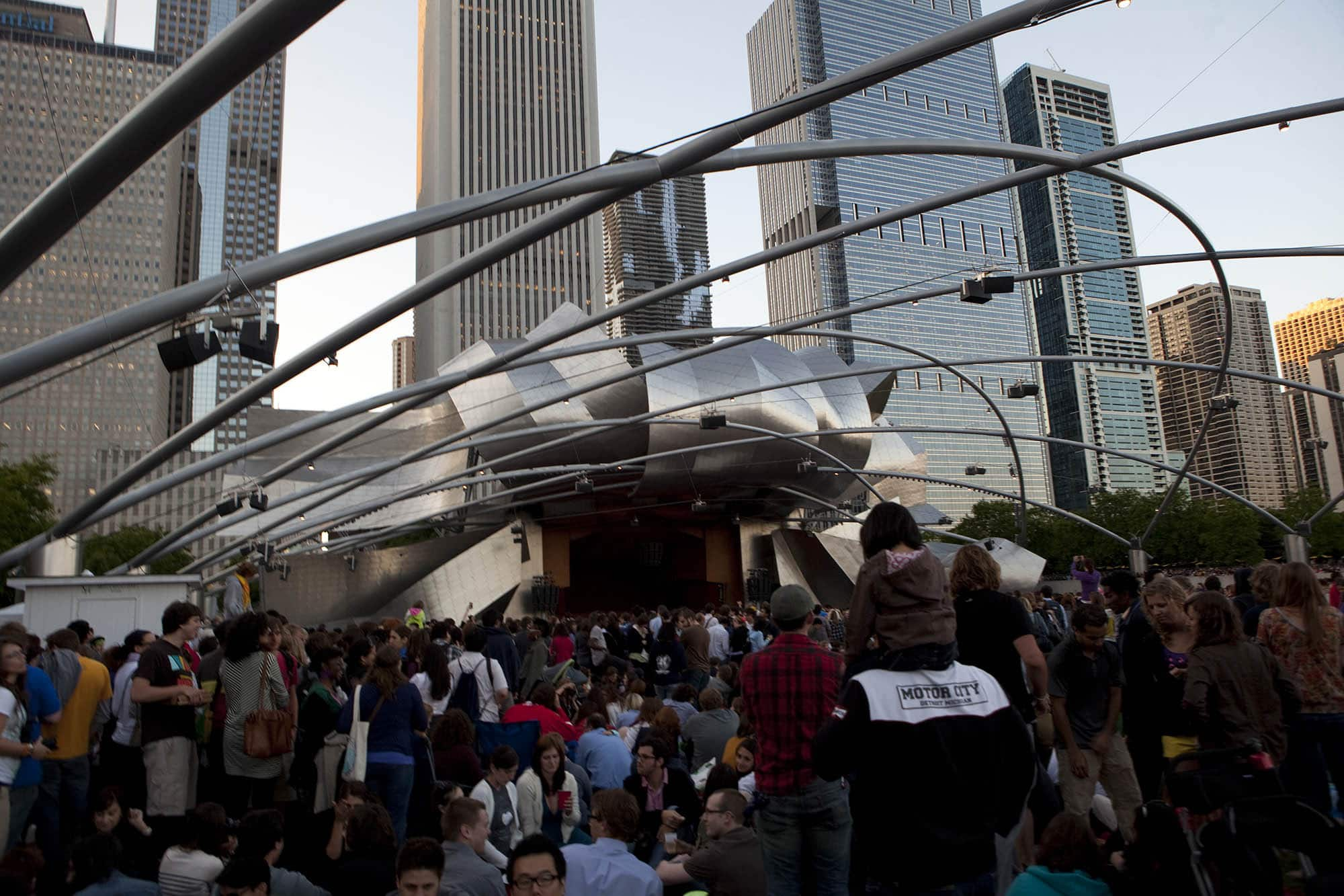She and Him concert in Millennium Park