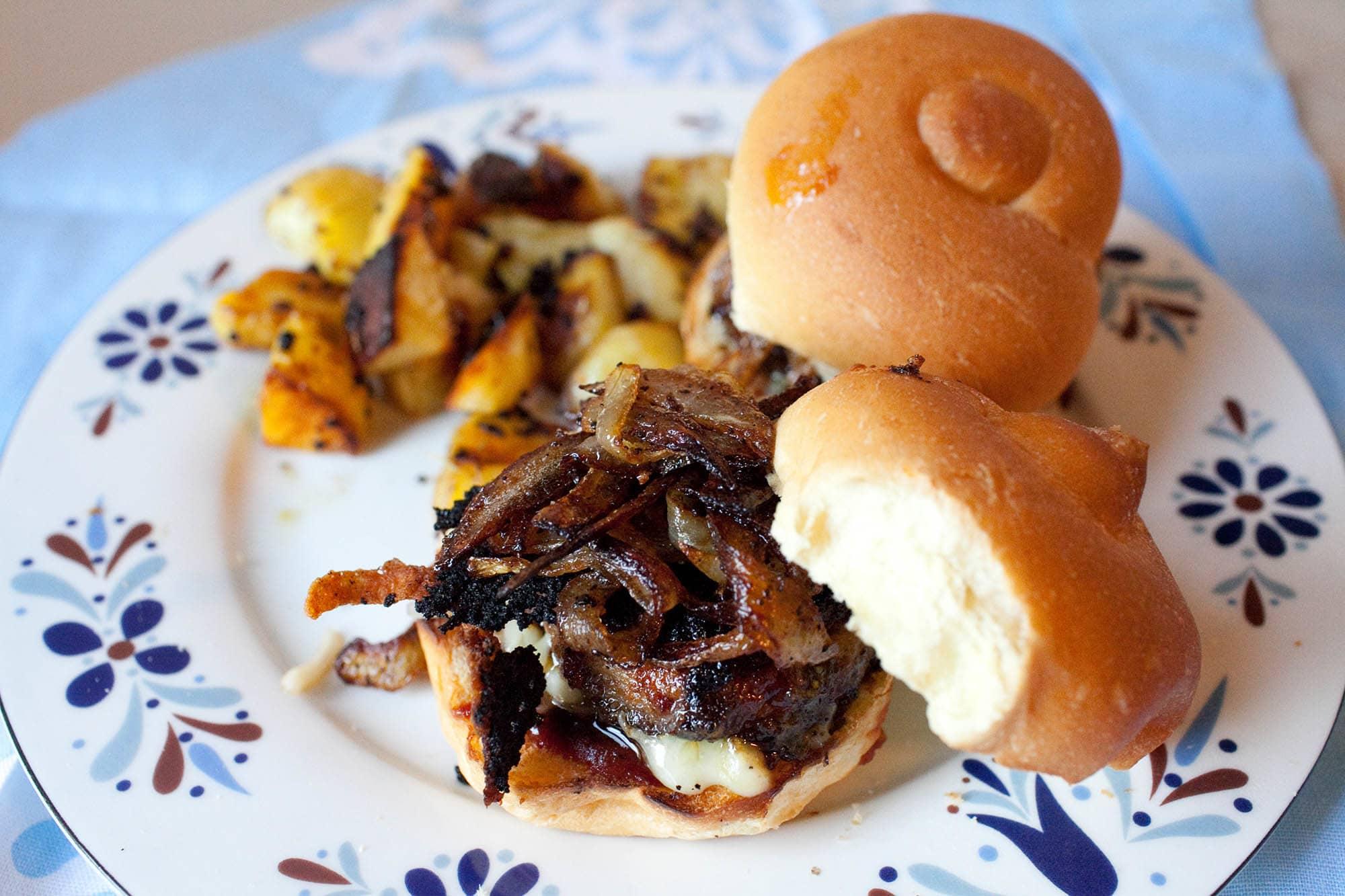 Vegetarian BBQ Mushroom Sliders