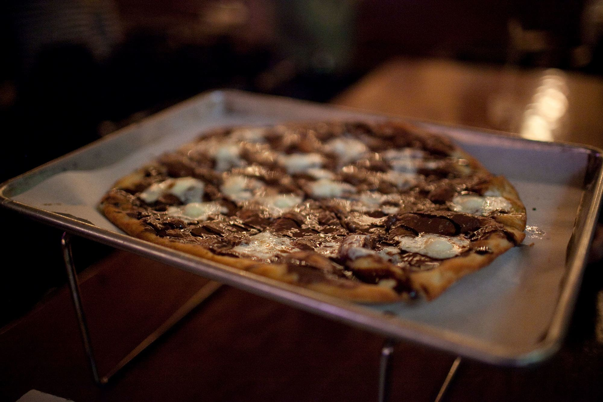 My 30th Birthday - Chocolate dessert pizza at Piece Pizza in Chicago, Illinois