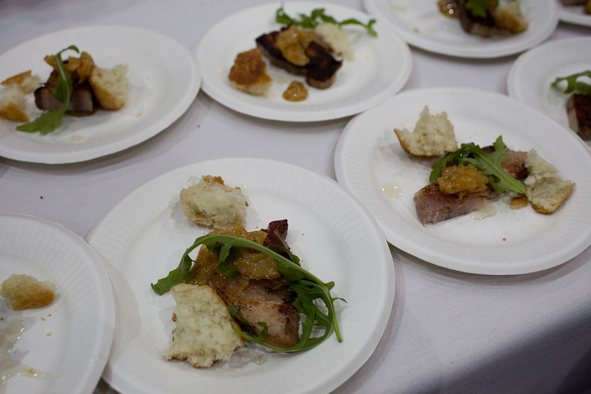 Baconfest Chicago - Roasted pork belly with meyer lemon marmalade, buttermilk biscuit and pine nut aillade