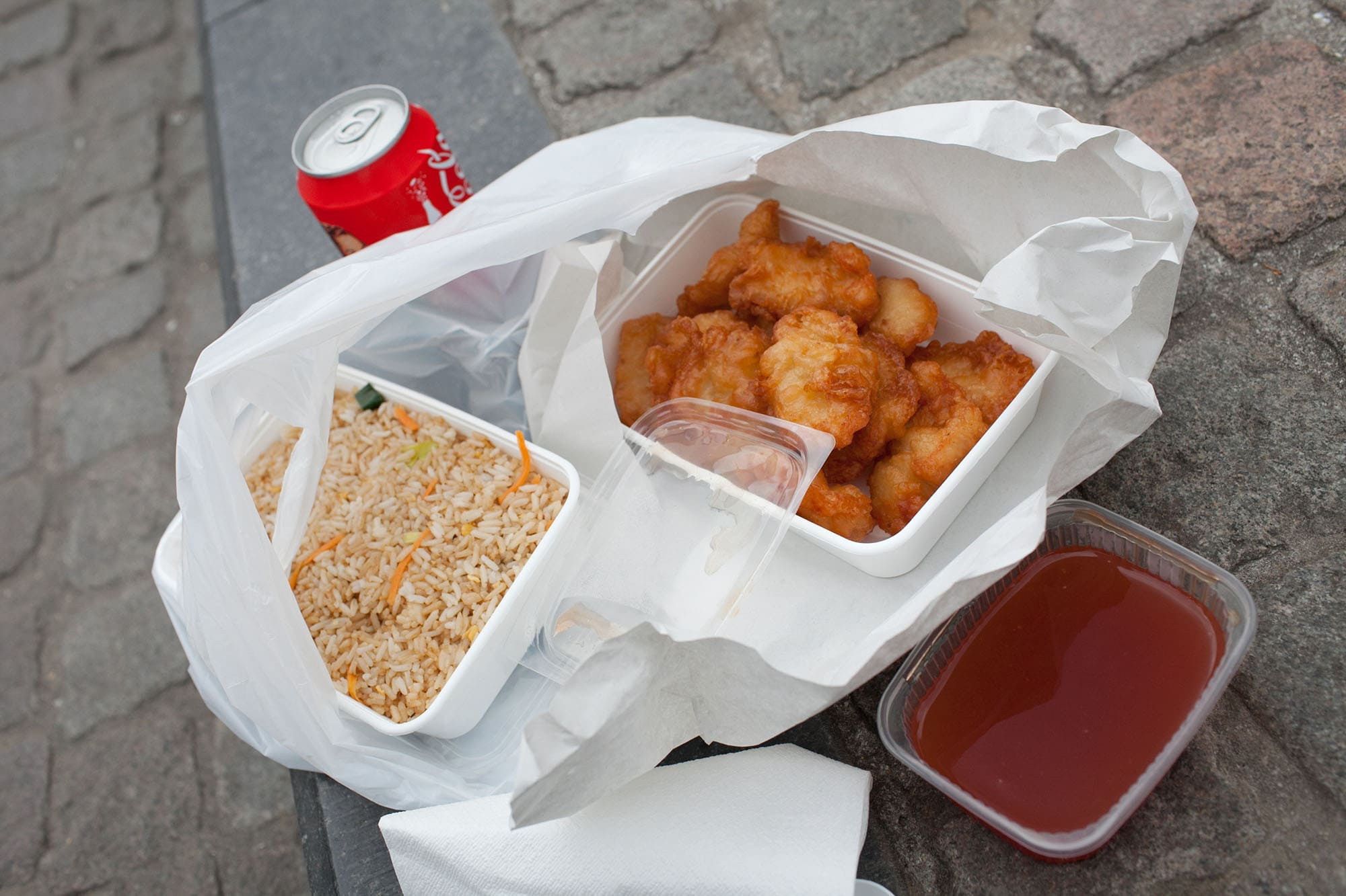 Sweet and Sour Chicken in Bruges, Belgium