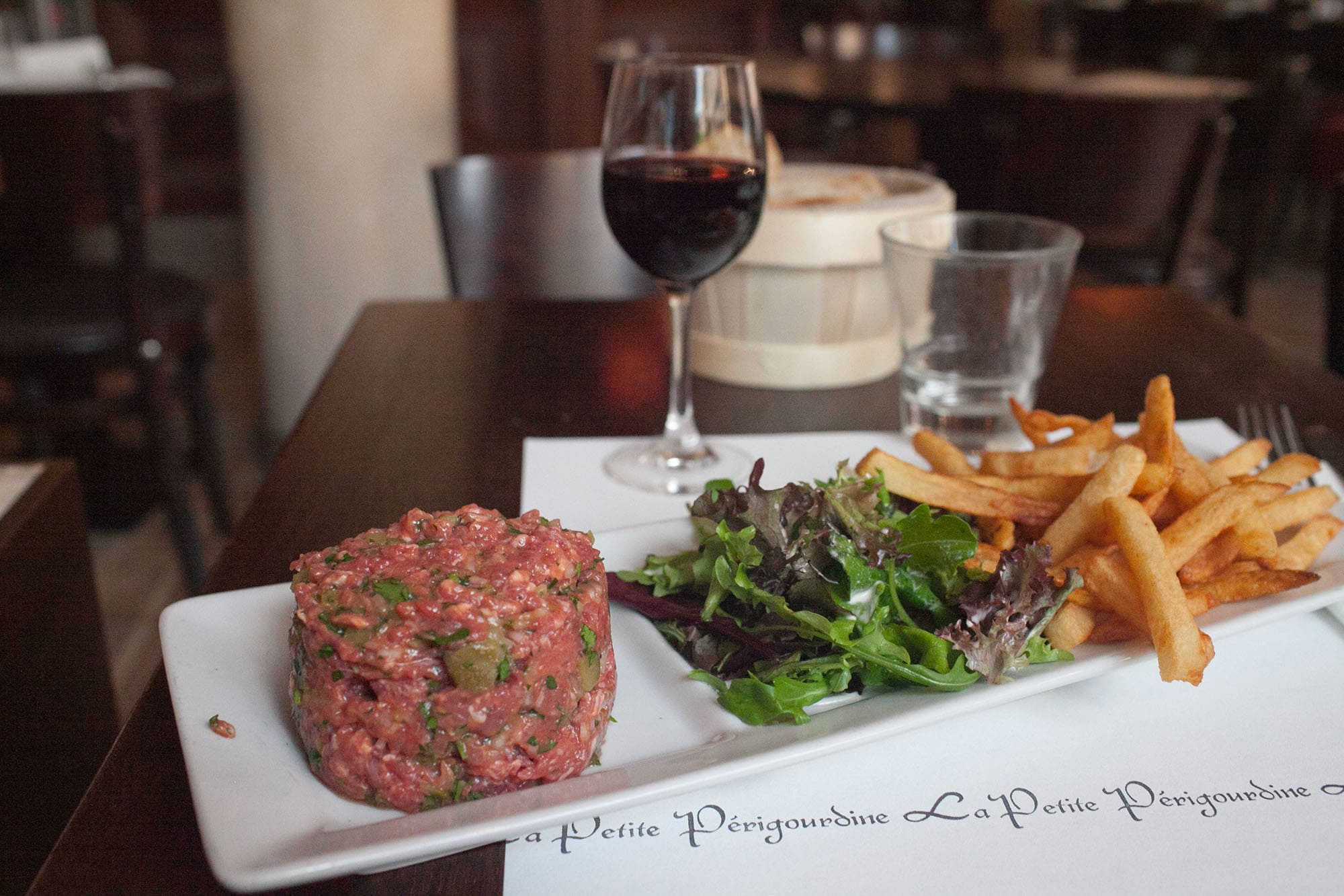 Steak tartar in Paris, France