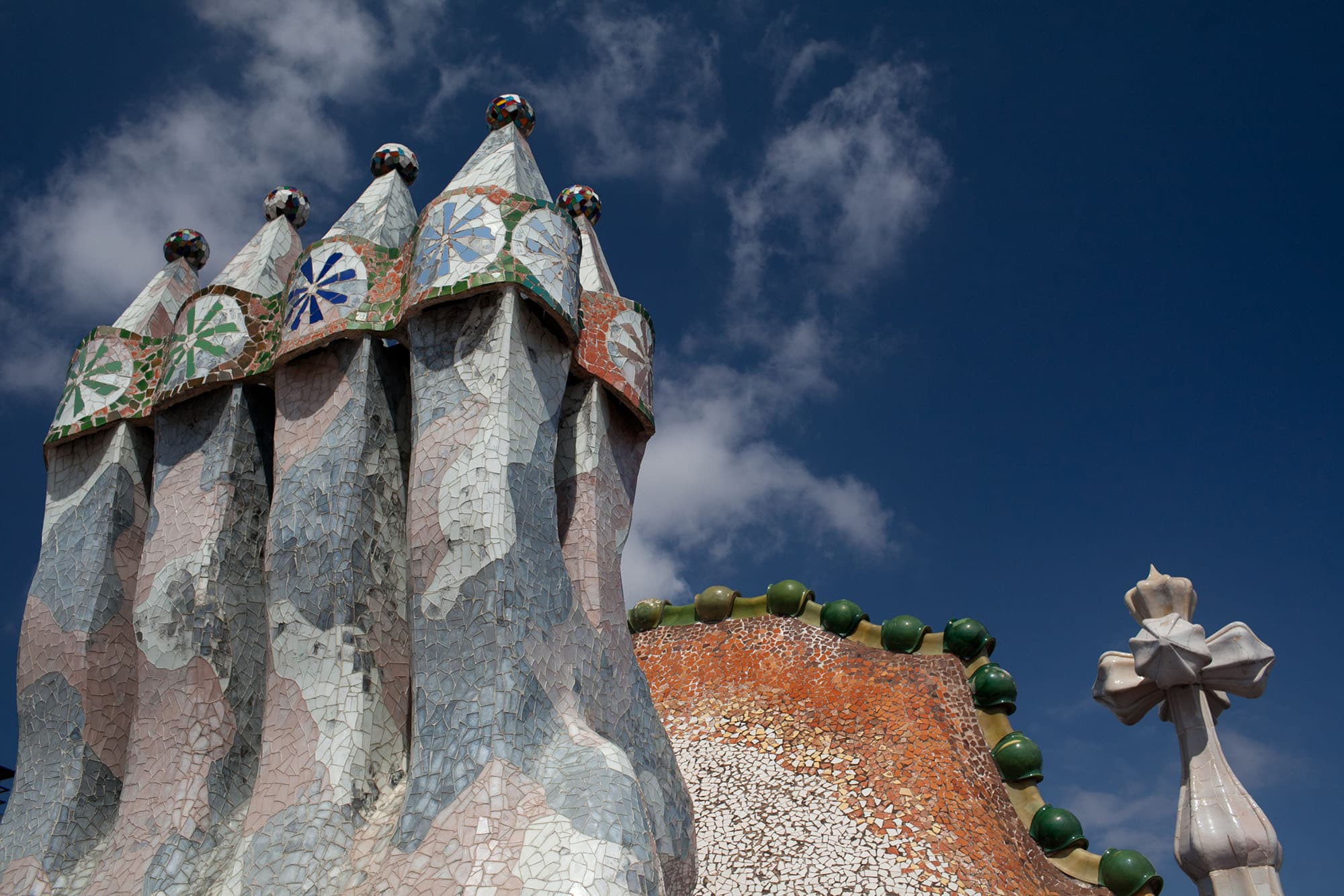 Gaudi Architecture in Barcelona, Spain.