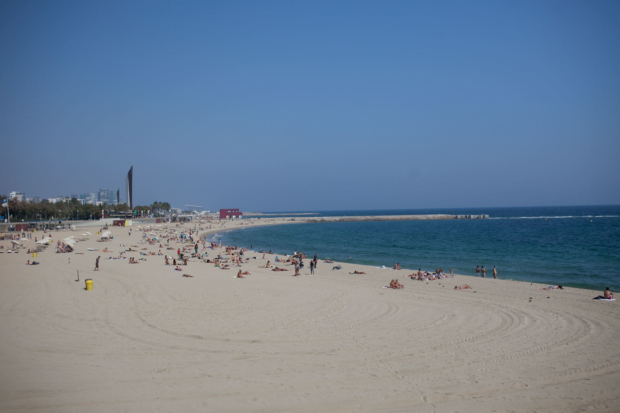 Beach in Barcelona, Spain