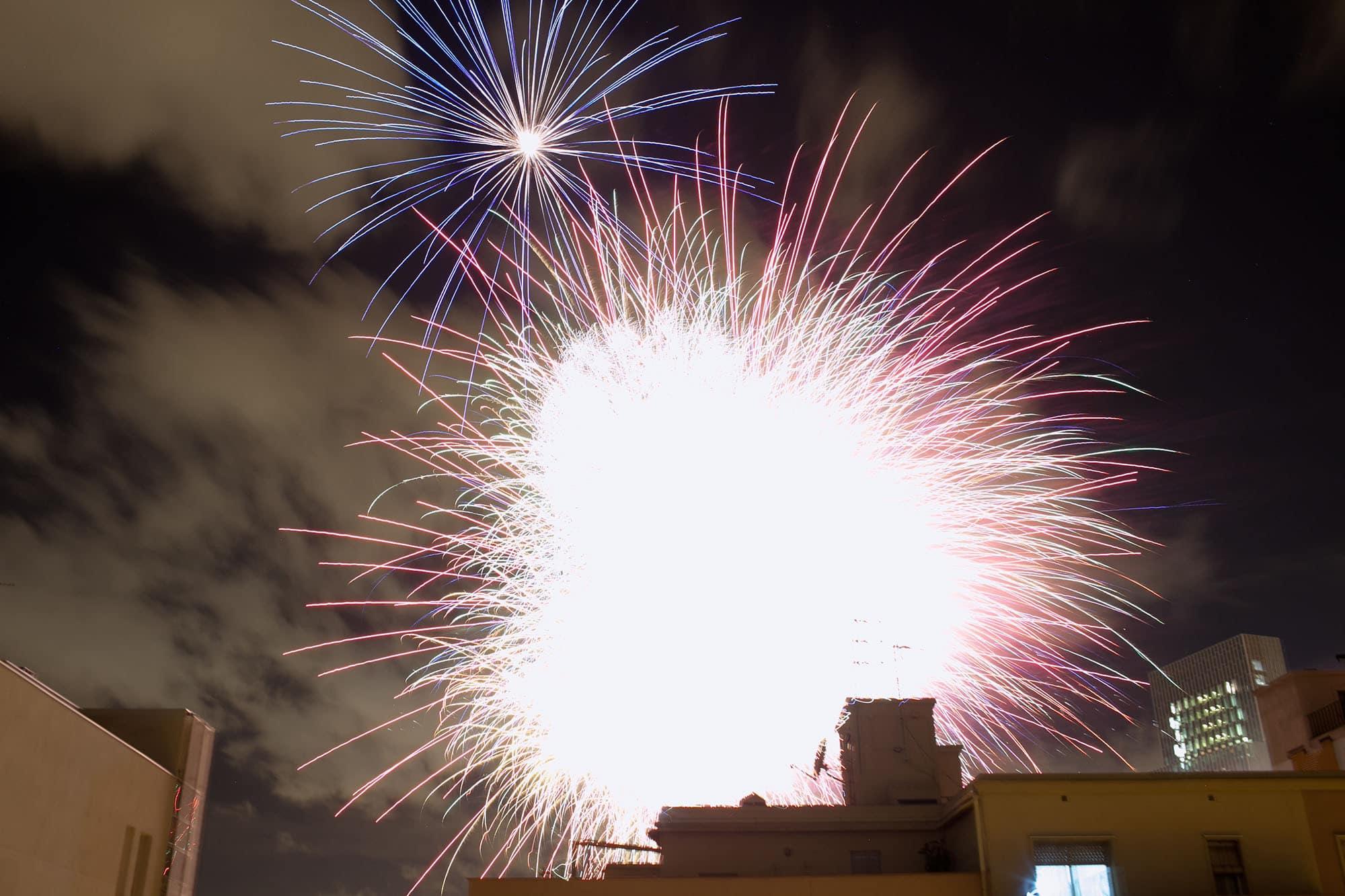 Fireworks in Barcelona, Spain