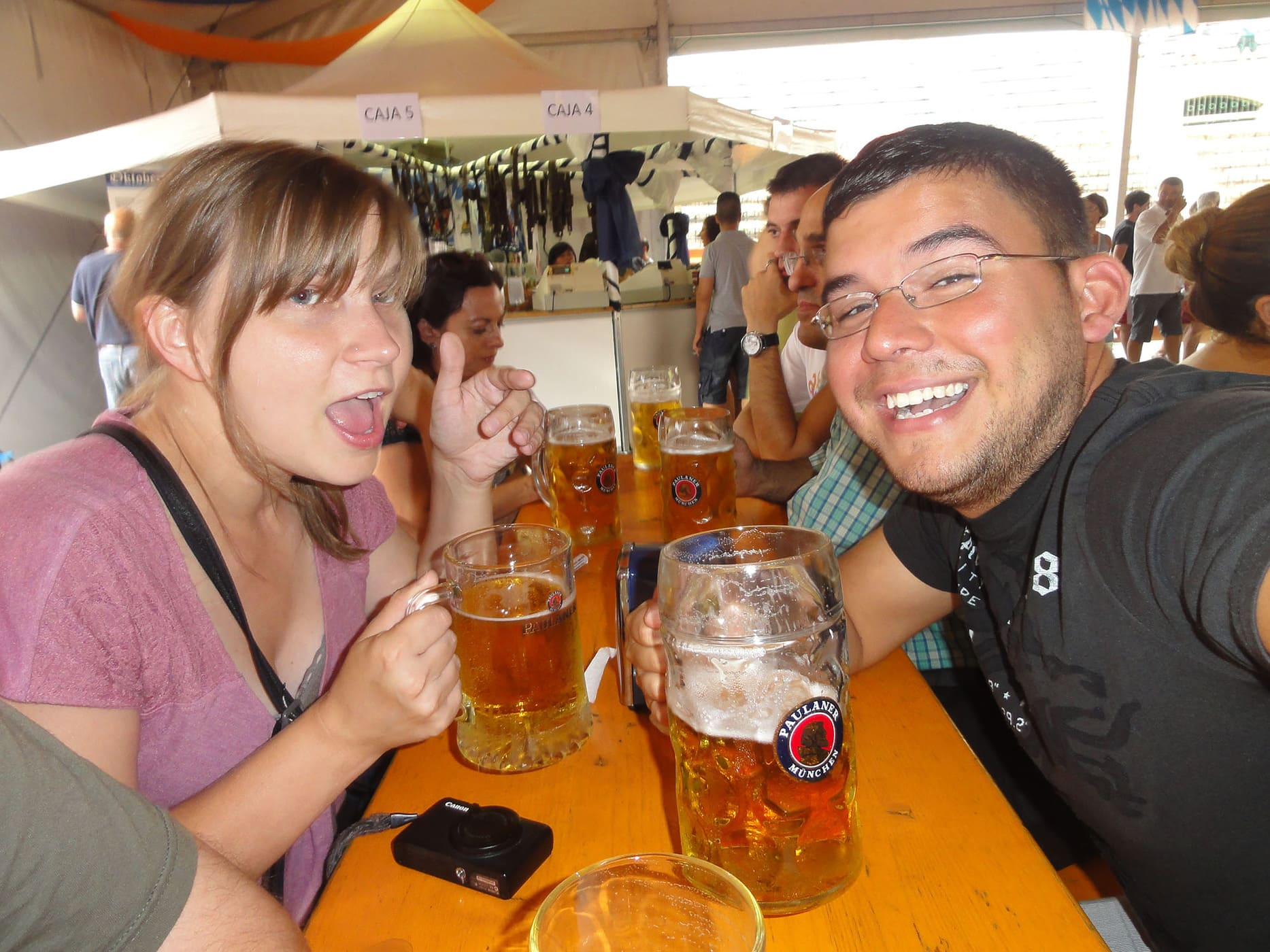 Celebrating Oktoberfest in Valencia, Spain