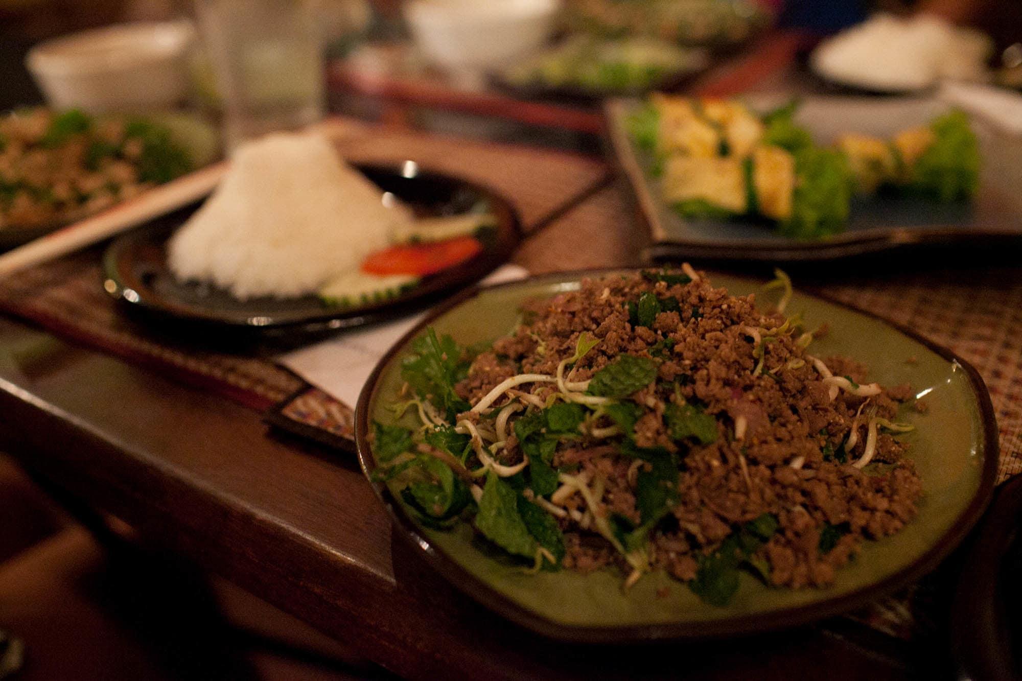Beef lap in Vientiane, Laos.