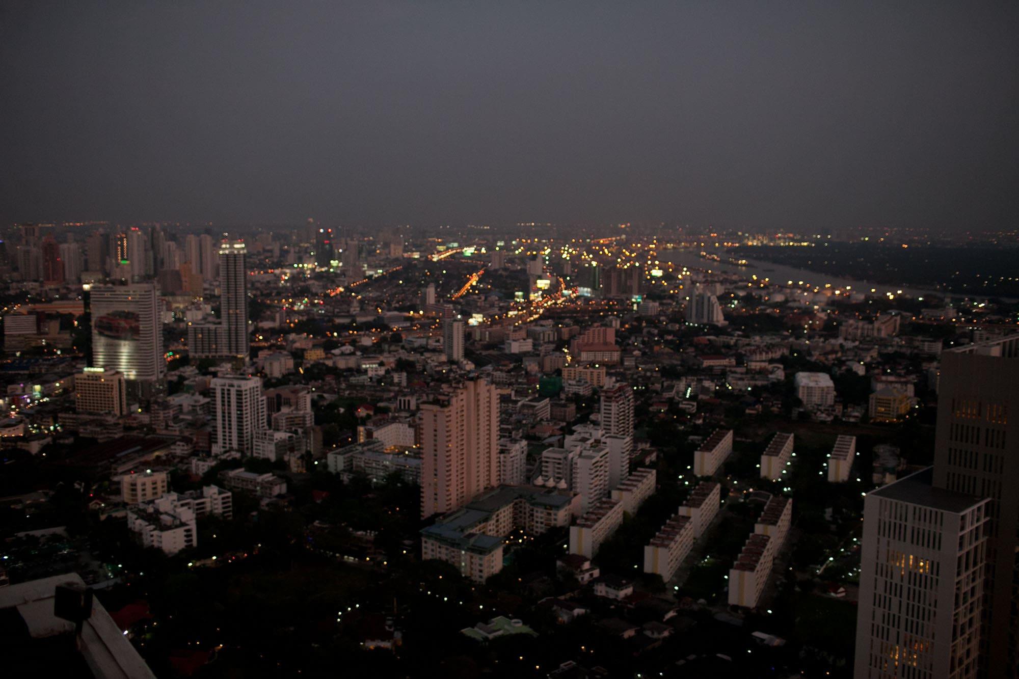 Vertigo rooftop bar in Bangkok, Thailand