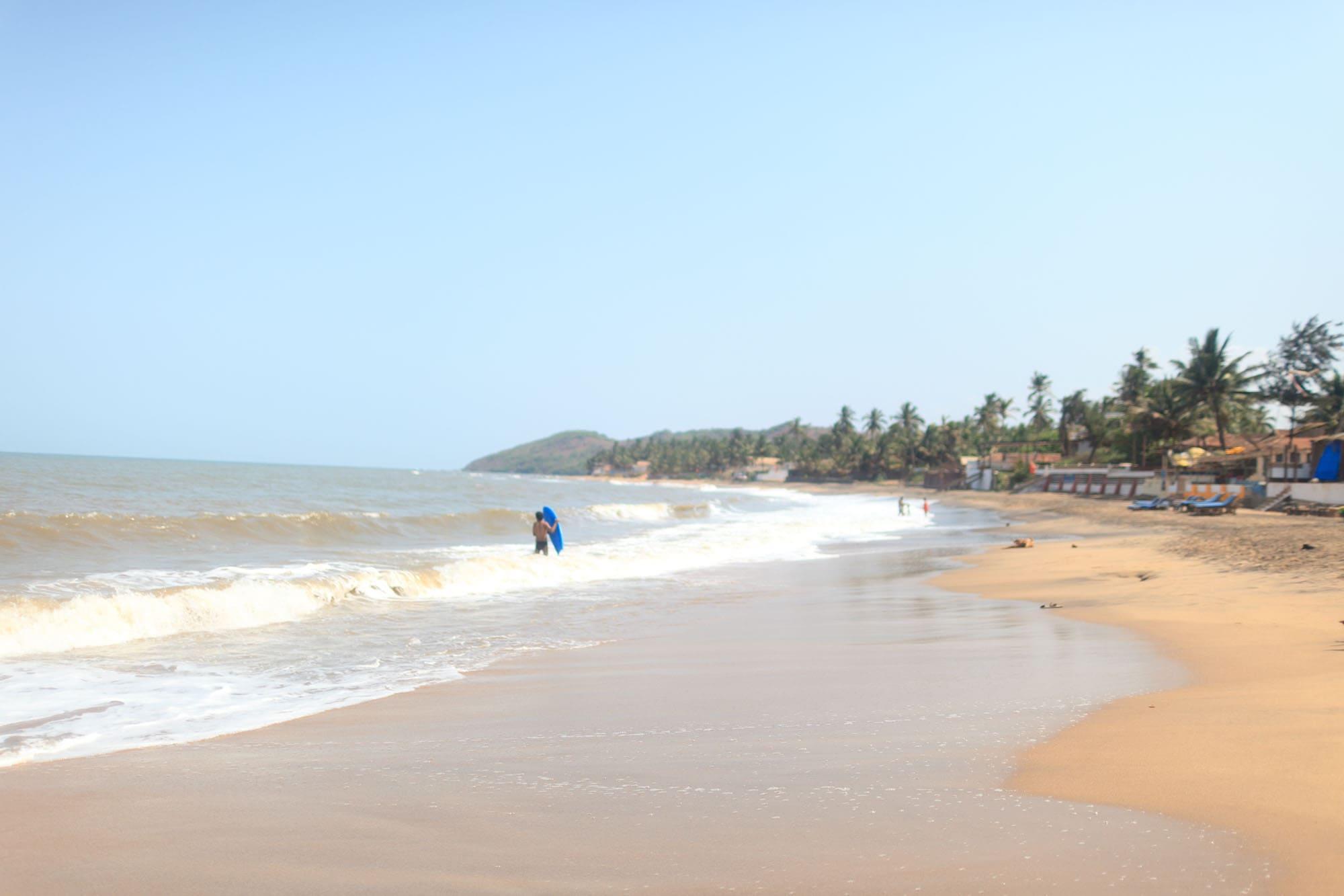 Beach in Anjuna, Goa, India