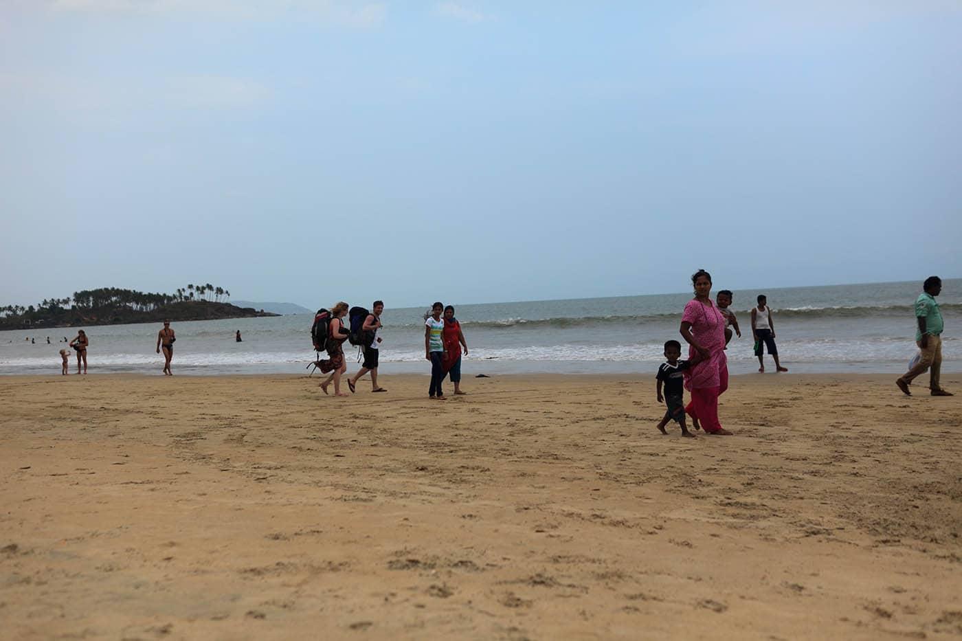 Palolem Beach in Palolem, Goa, India.