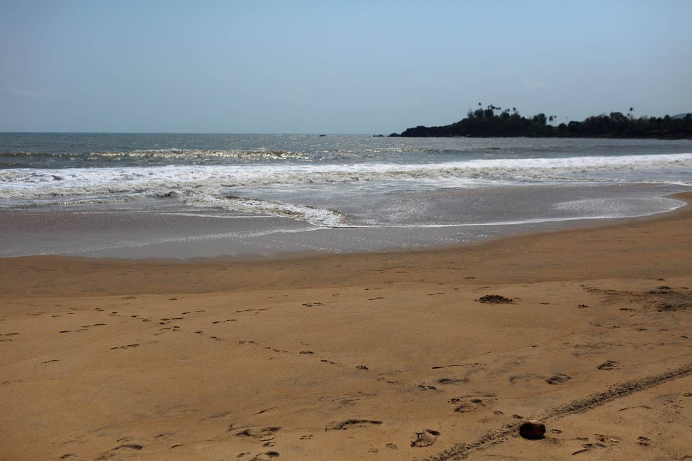 The beach in Palolem, Goa, India.