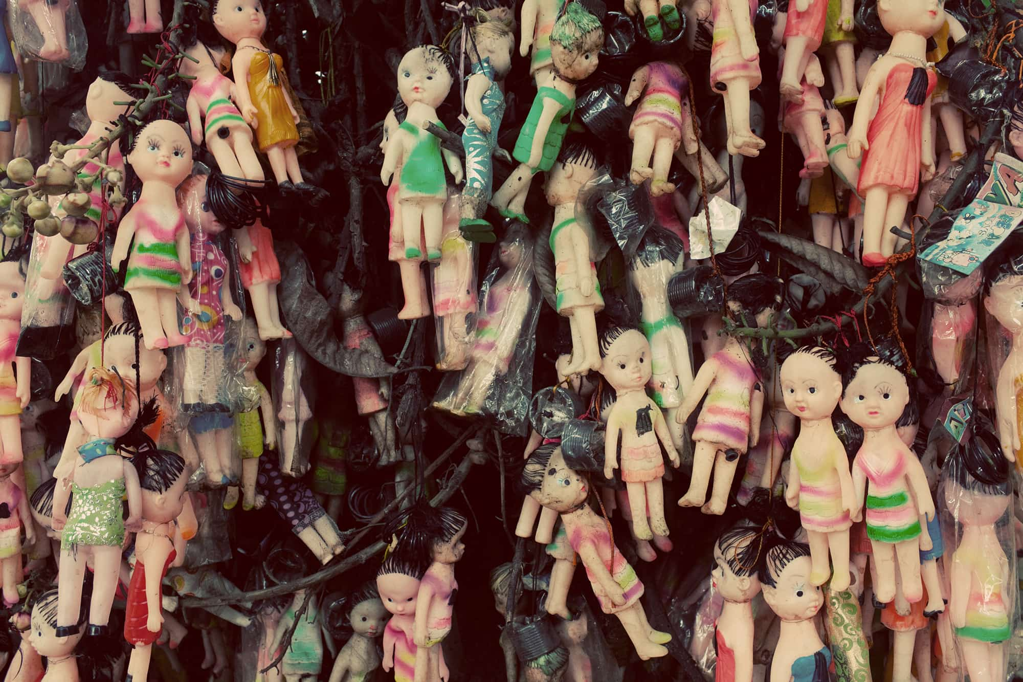 Doll trees in Varkala, India