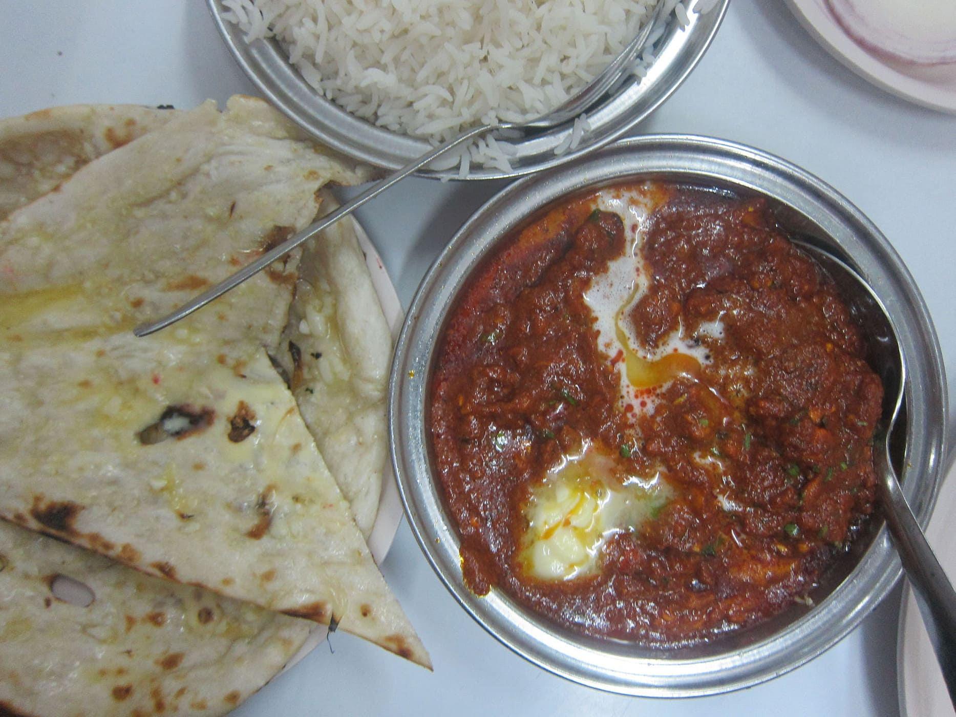 Butter chicken in Mumbai, India.