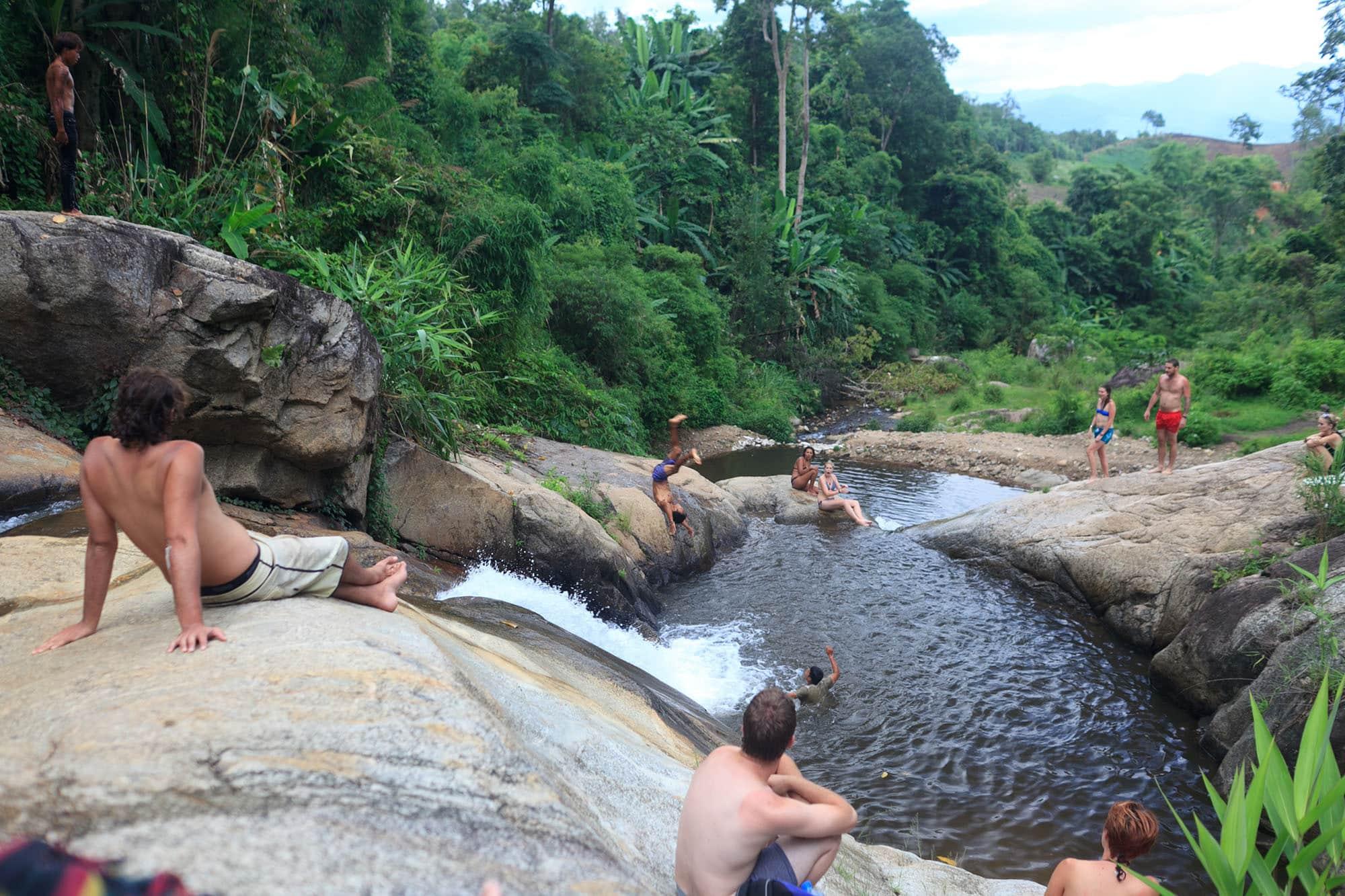 Mor Paeng Waterfall in Pai, Thailand