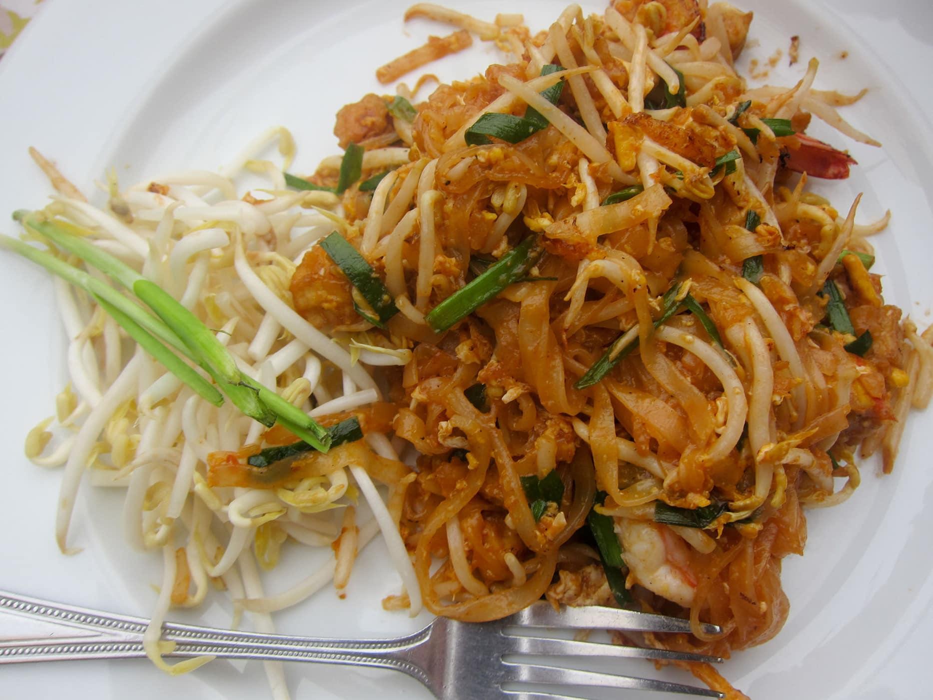 Pad Thai in Bangkok, Thailand.