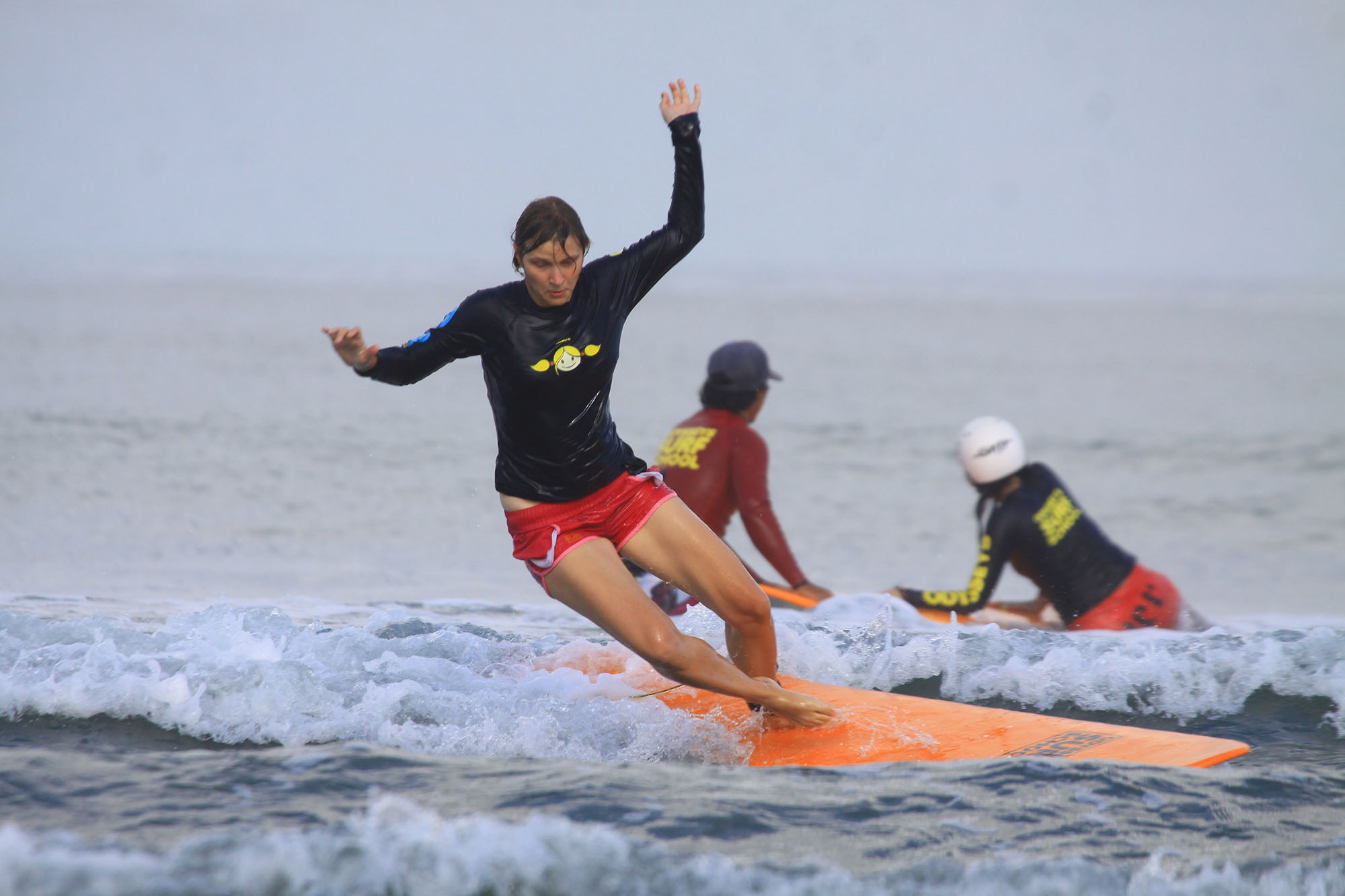 Beginner surfing lesson in Kuta, Bali