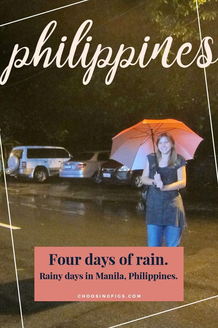 Four days of rain. Rainy days in Manila, Philippines.