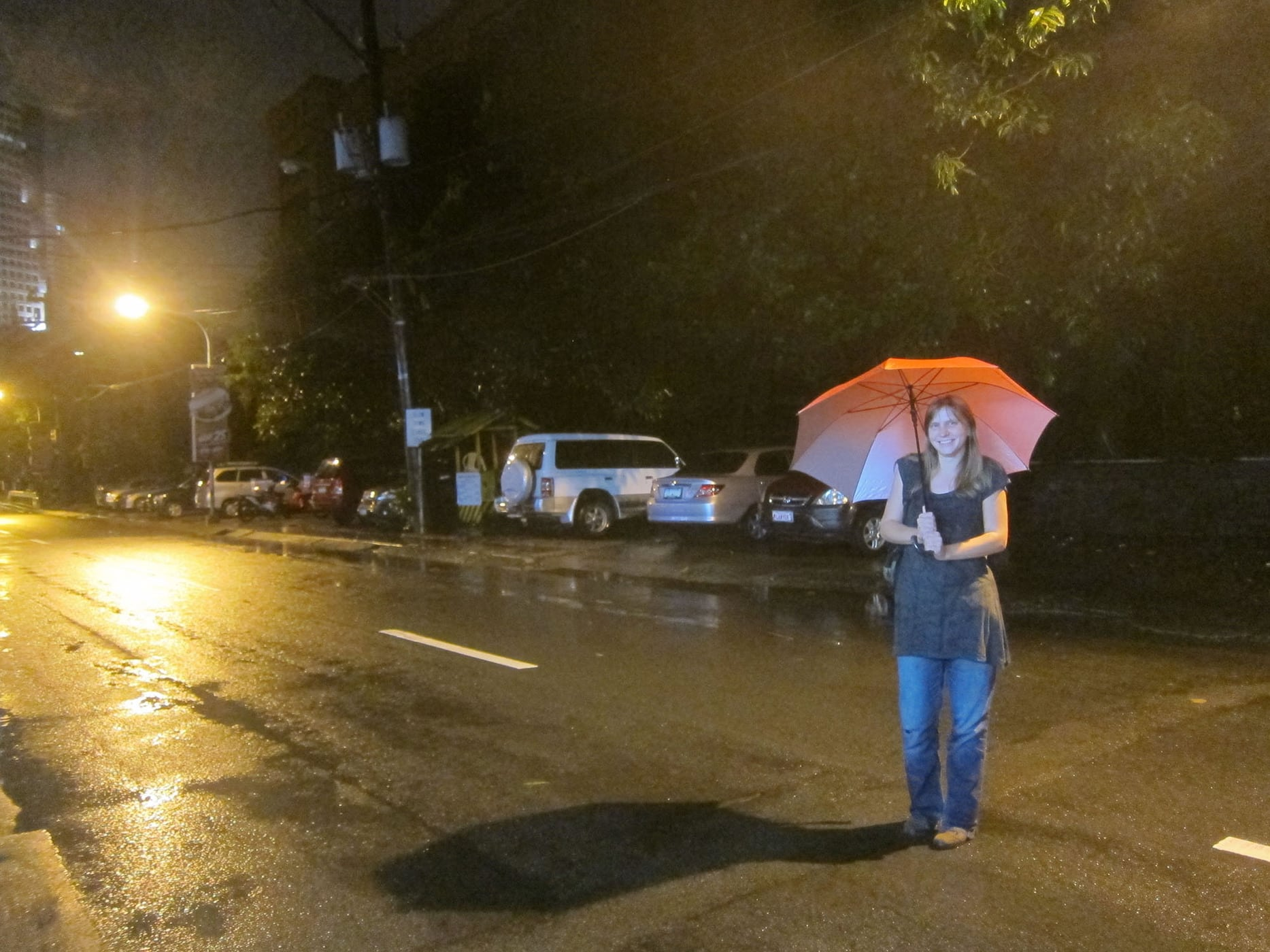 Rain in Manila, The Philippines.