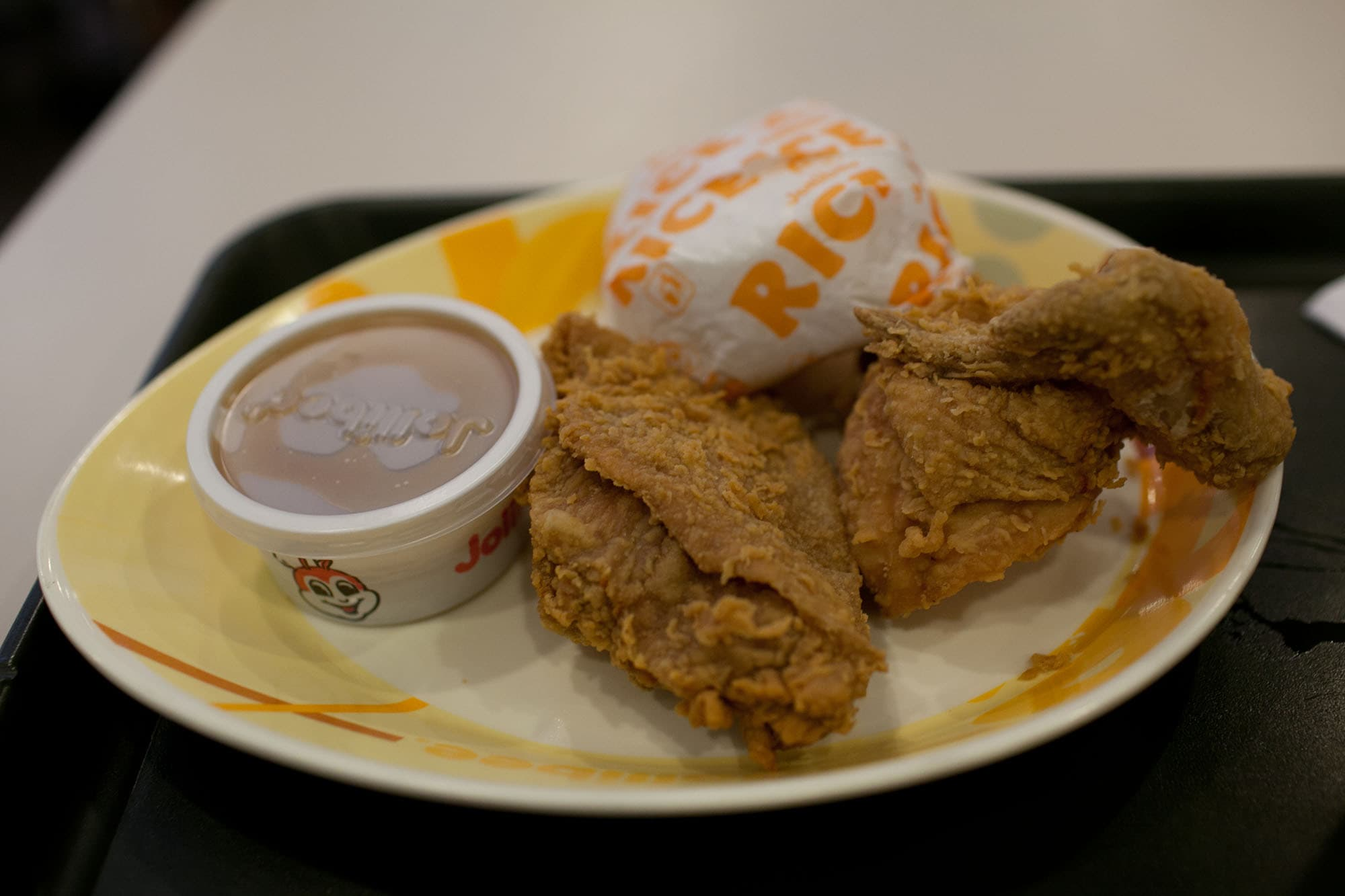 Food in the Philippines: What I ate in The Philippines. Jollibee fried chicken in Cebu, Philippines.