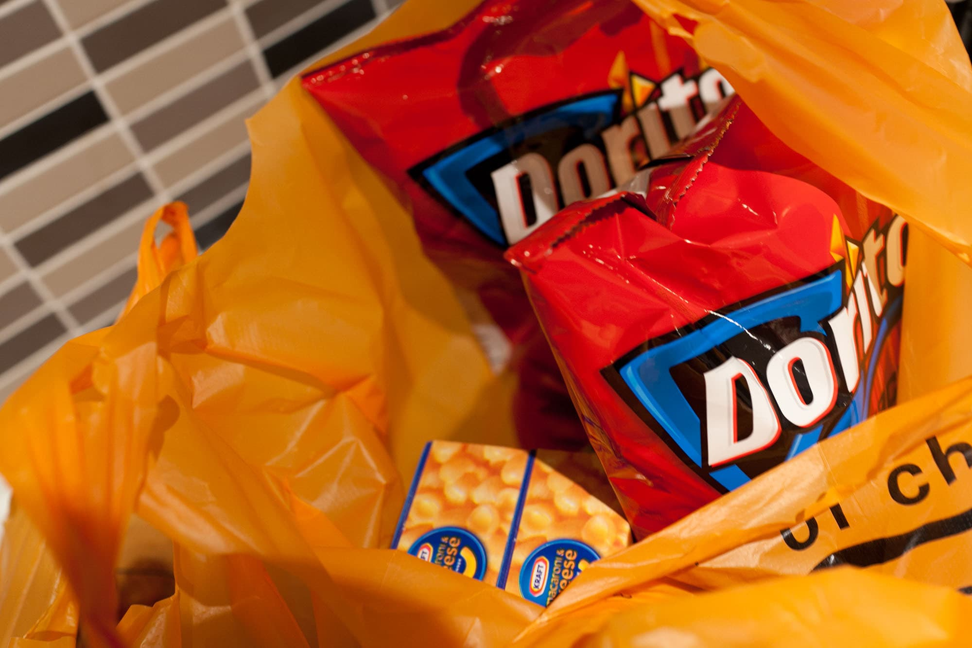 Doritos at a sleepover party in Chiang Mai, Thailand.