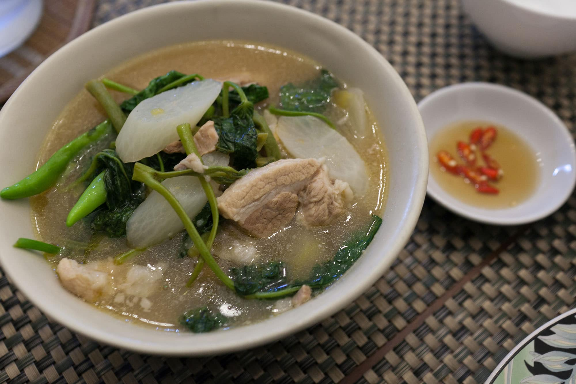 Food in the Philippines: What I ate in The Philippines. Pork sinigang in Manila, Philippines.