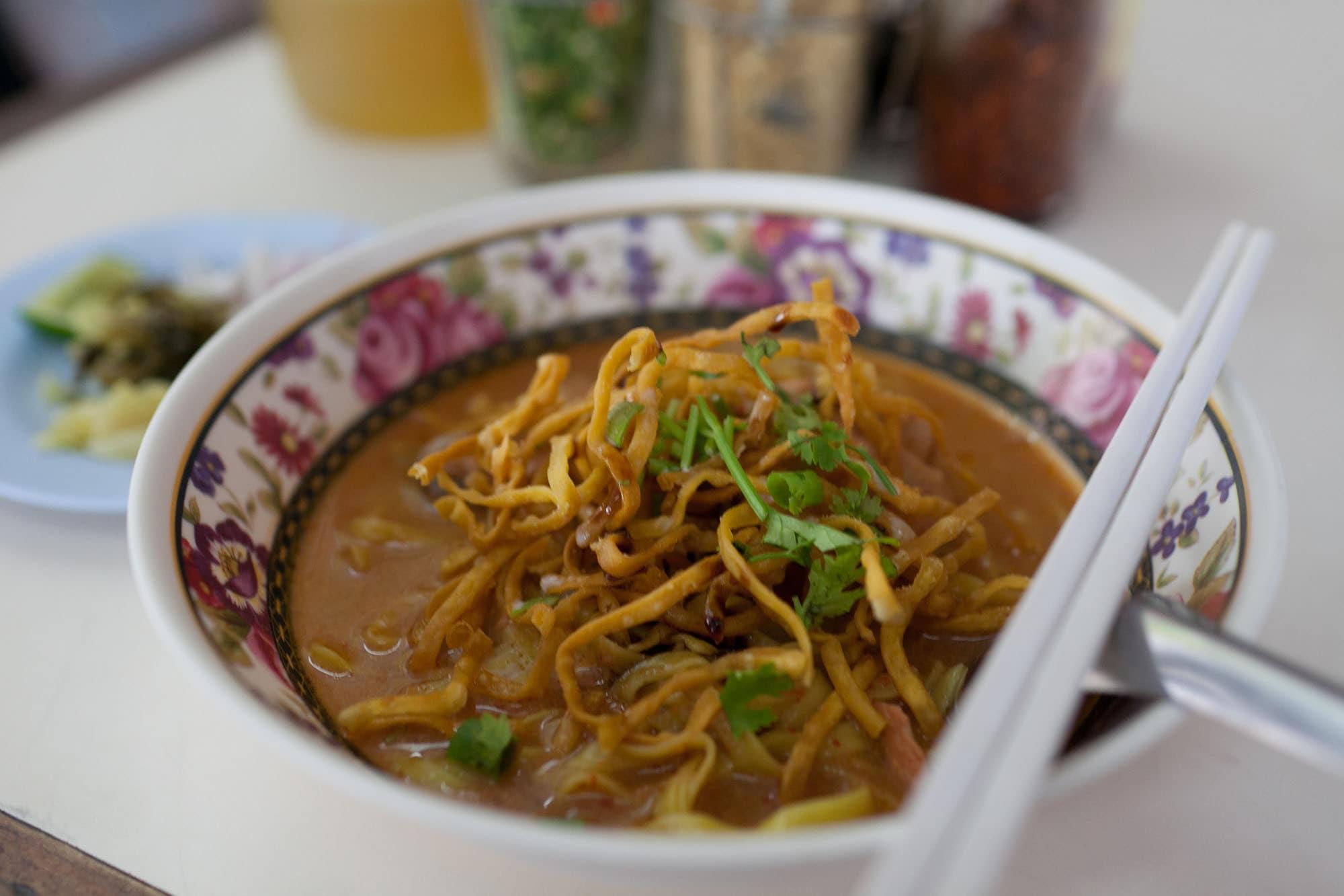Khao soi in Chiang Mai, Thailand.
