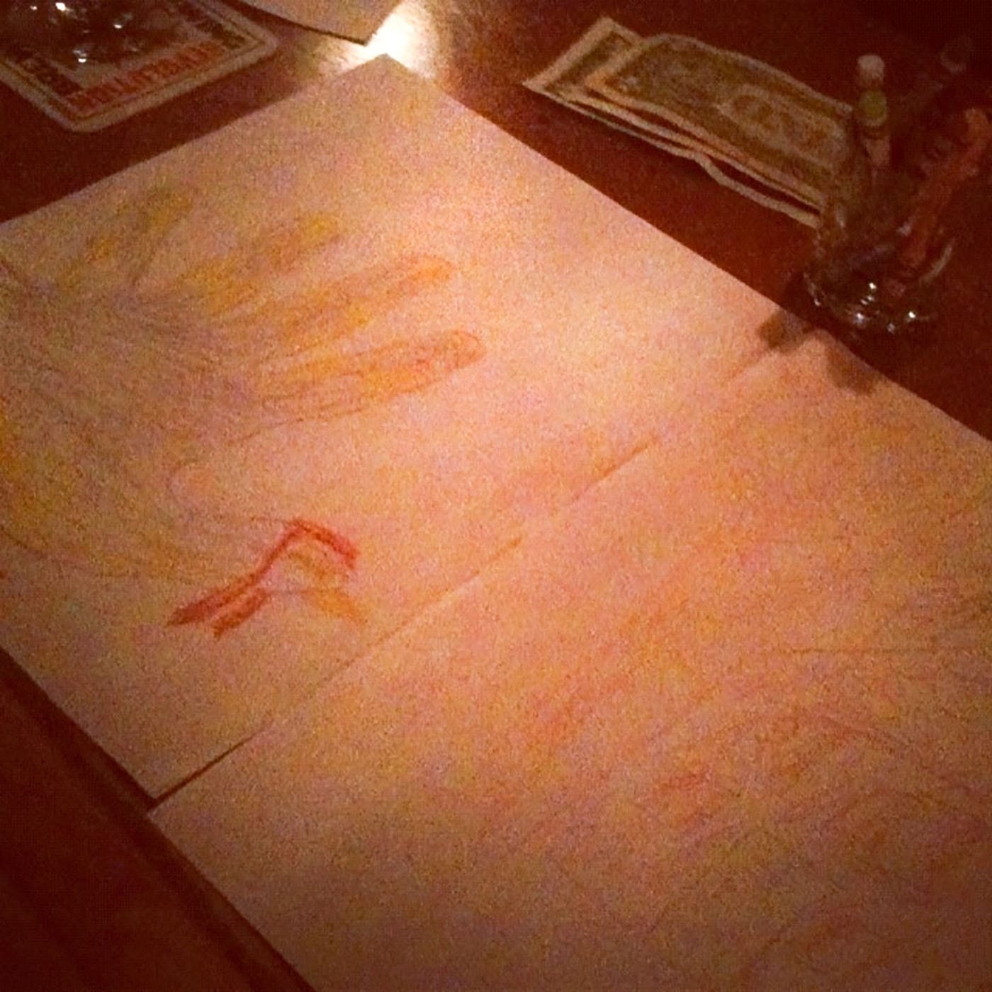 Coloring at the Four Moon bar in Chicago, Illinois