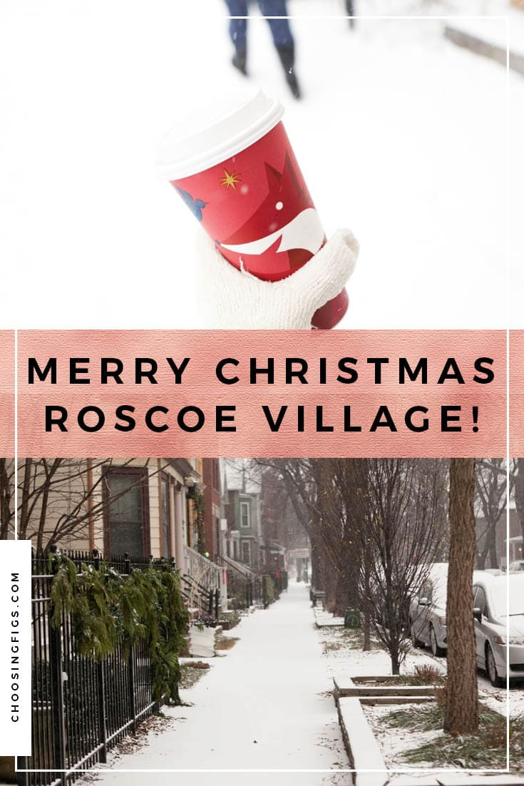 Merry Christmas Roscoe Village! Our Chicago Family Christmas in Roscoe Village, getting Starbucks, exchanging gifts, eating Thai food, and going to drink at Jake's bar.
