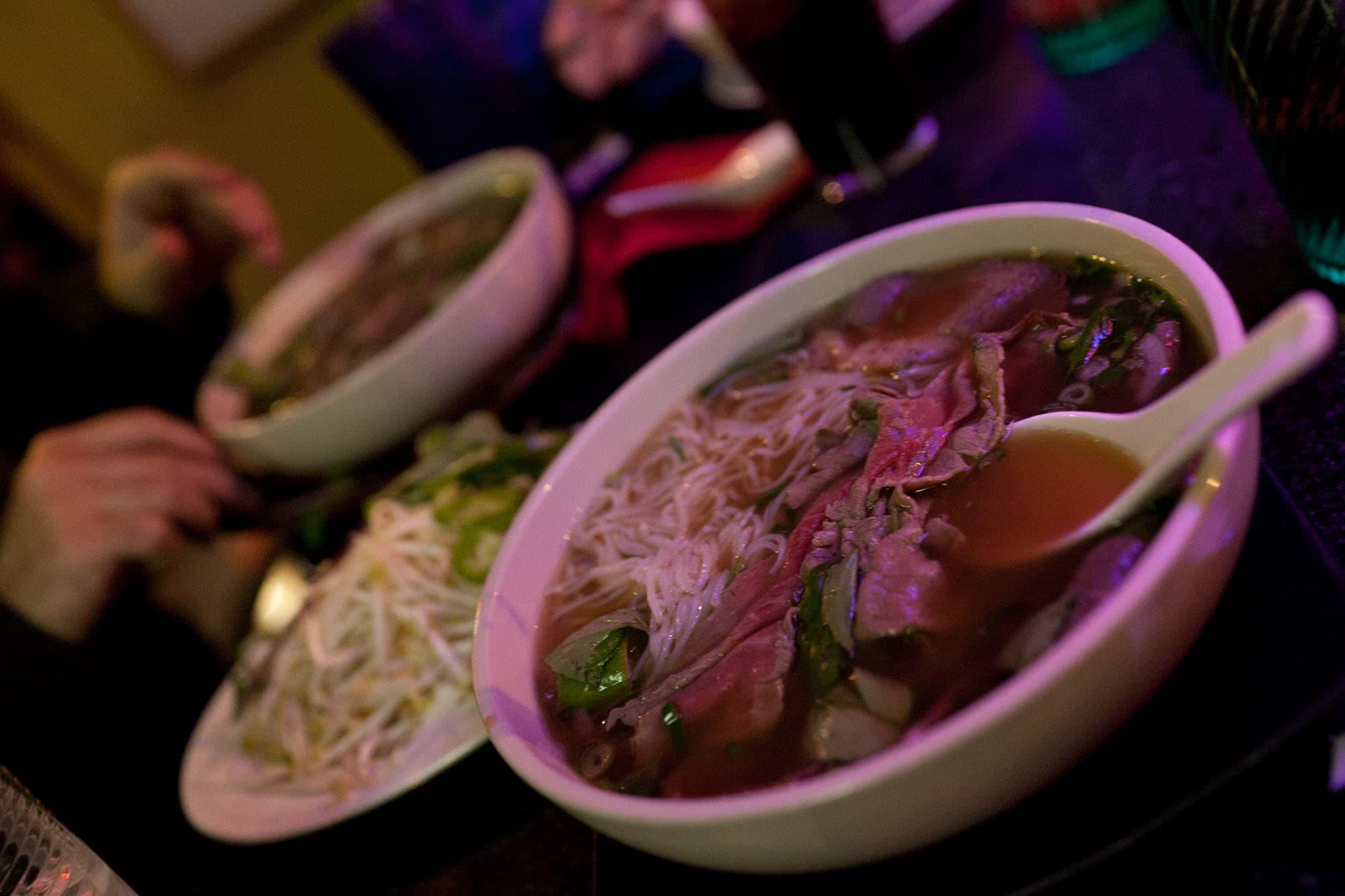 Steak and Fatty Flank Pho at Pho Viet Anh in Seattle, Washington