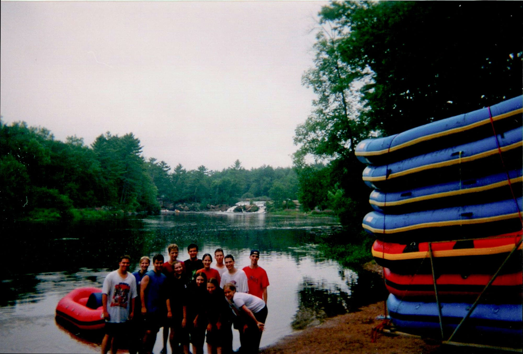 White water rafting at Shotgun Eddy's in Wisconsin