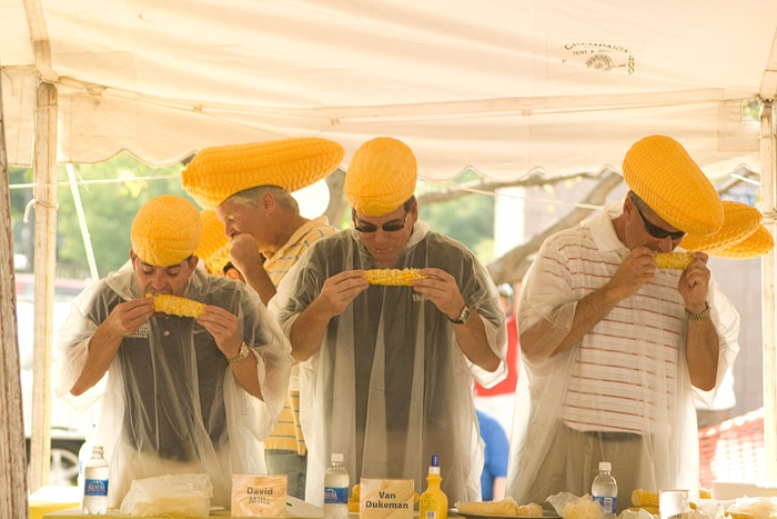 Sweetcorn Festival Sweetcorn Eating Contest