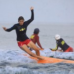 Learning to surf in Kuta, Bali